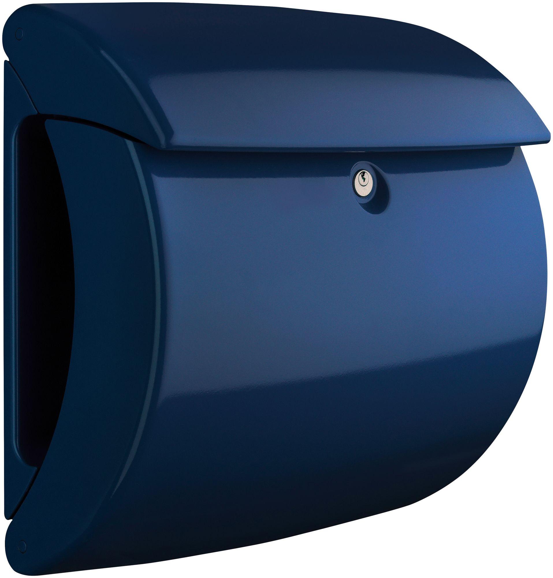 BURG WÄCHTER  Briefkasten »Briefkasten in Klavierlack-Optik, Piano 886 MB«, Marine Blue