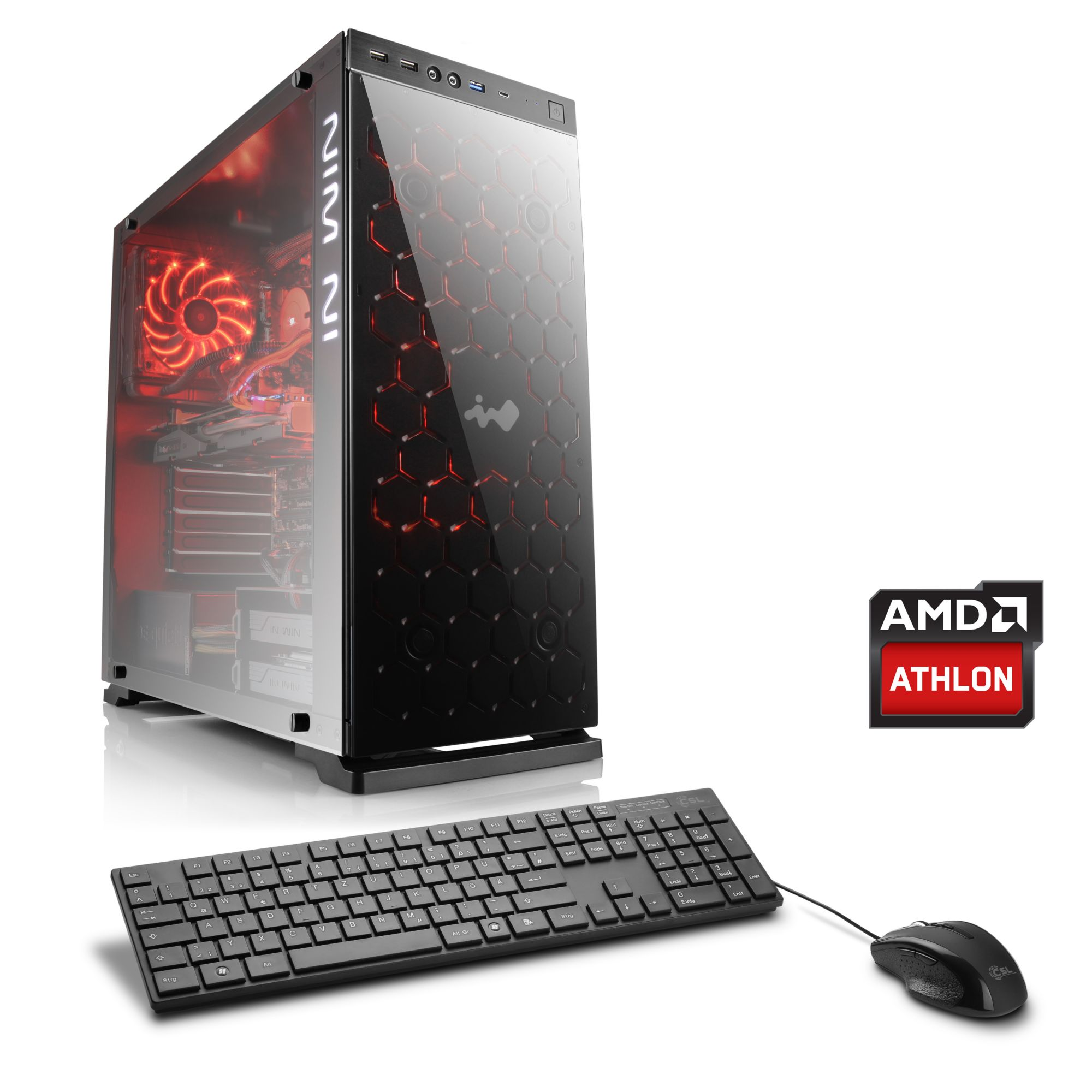 CSL  Gaming PC | AMD Athlon X4 880K | GeForce GTX 1050 Ti | 8 GB RAM »Levitas T4260 Windows 10«