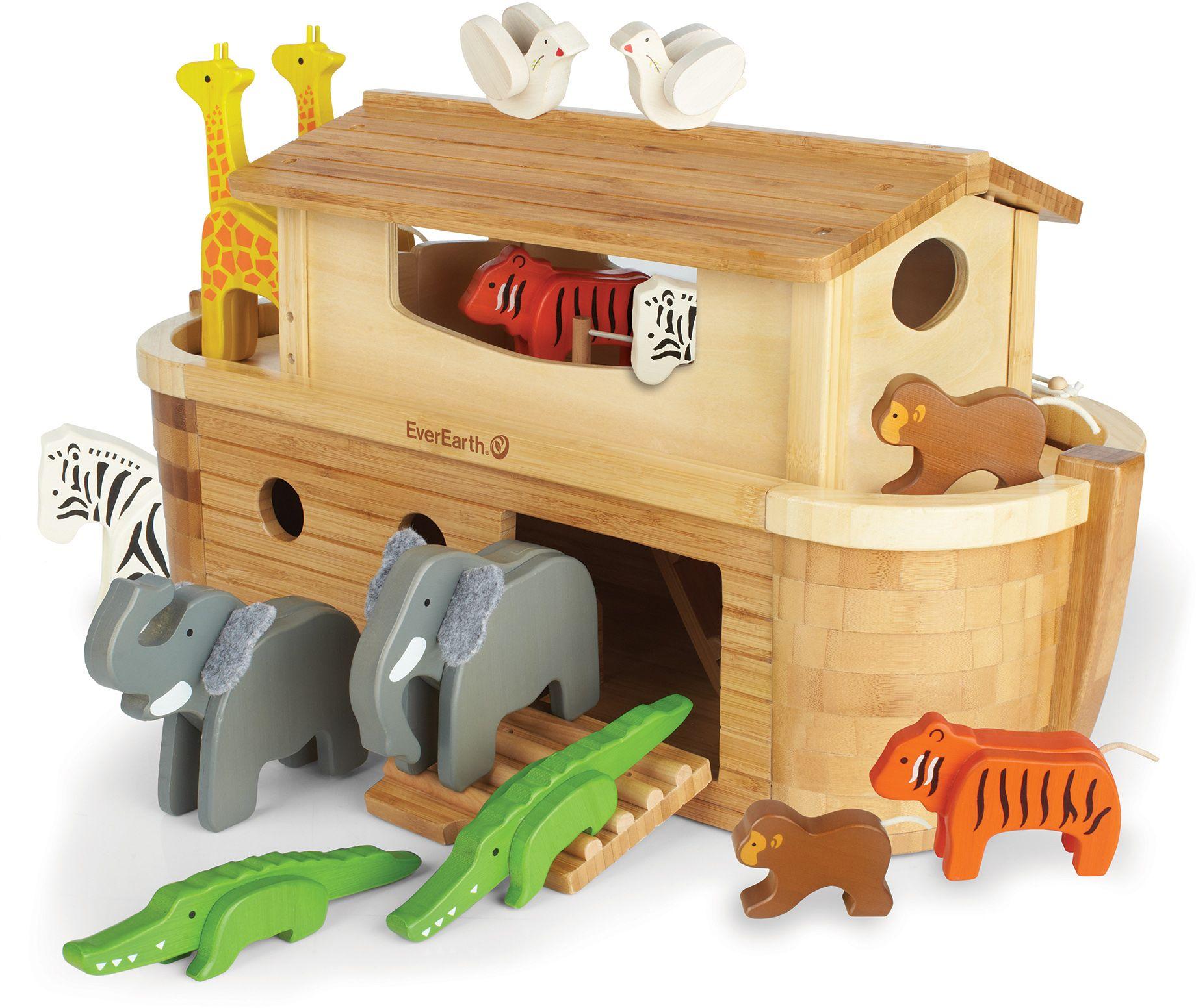 EVEREARTH EverEarth® Holzspielzeug, »Arche Noah in Groß mit 14 Tieren«