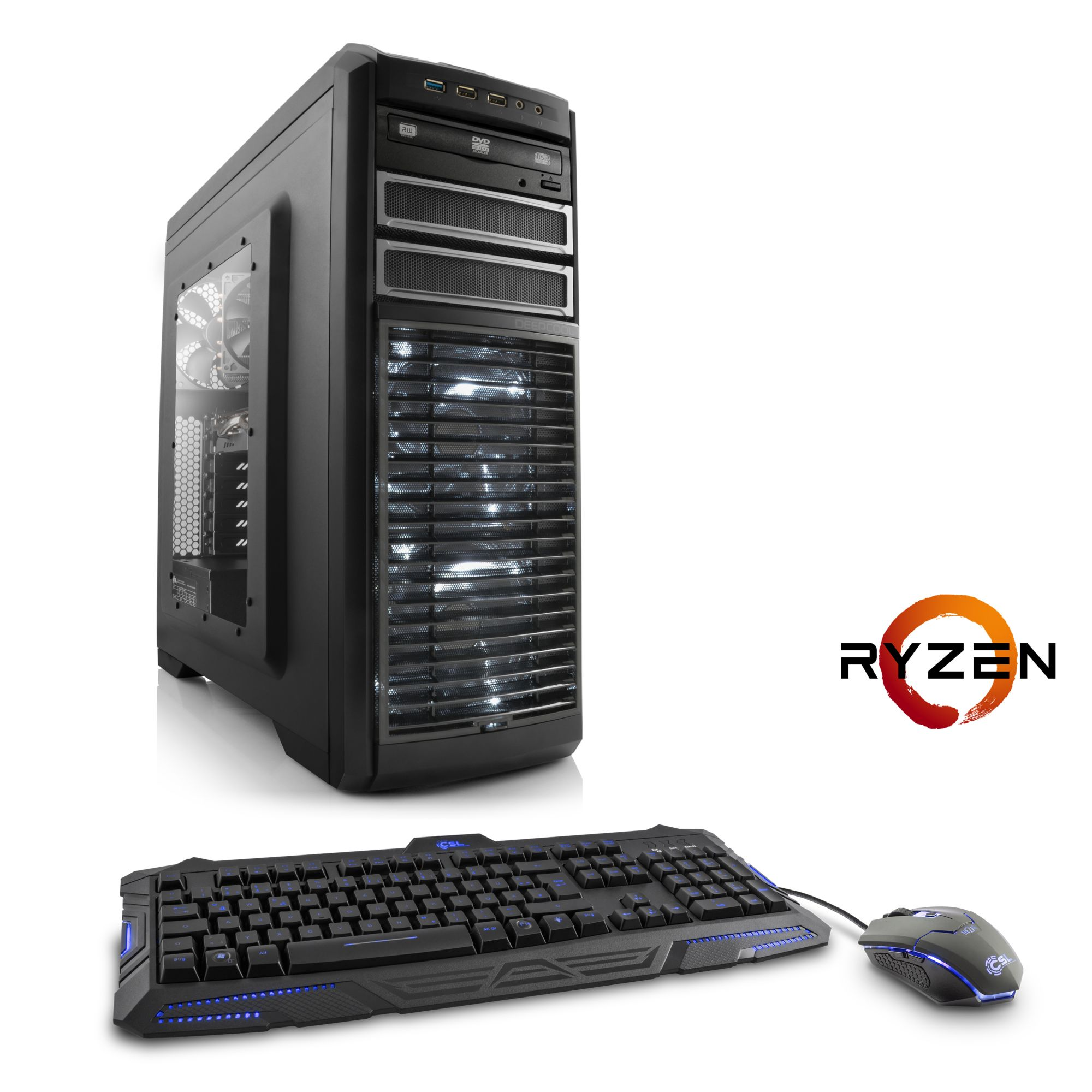 CSL  Extreme Gaming PC | Ryzen 7 1800X | GTX 1070 | 16 GB DDR4 | SSD »Sprint T8693 Windows 10 Home«