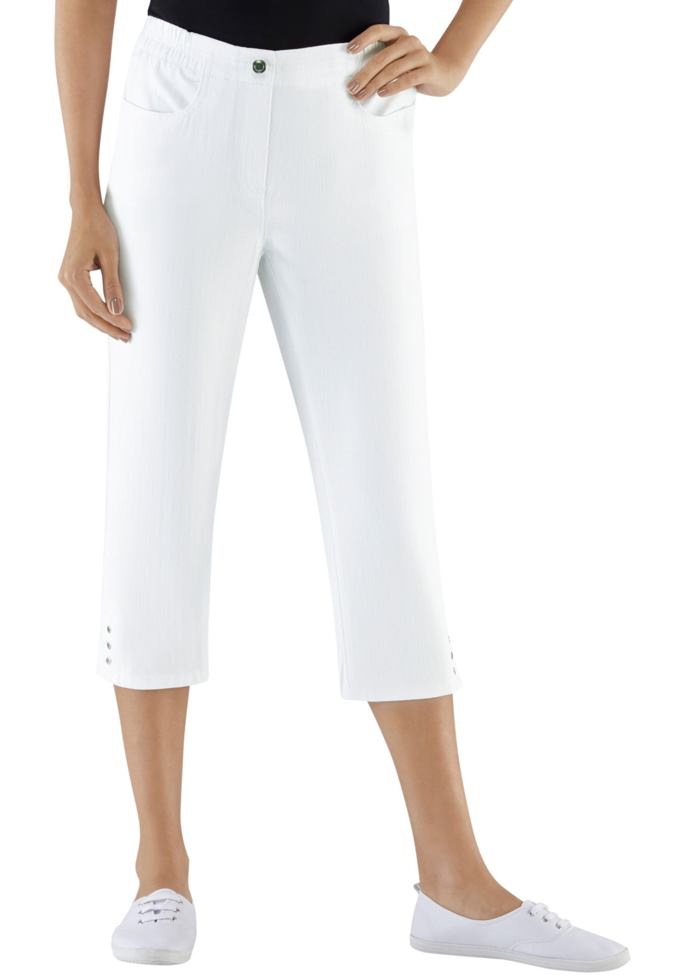 CLASSIC BASICS Classic Basics Capri-Jeans mit Rundum-Dehnbund