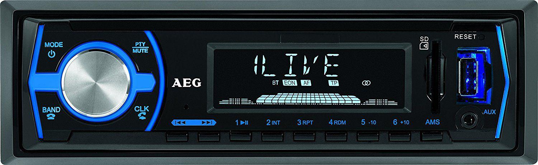 AEG  AR 4030 BT/USB/CR Autoradio ohne CD schwarz