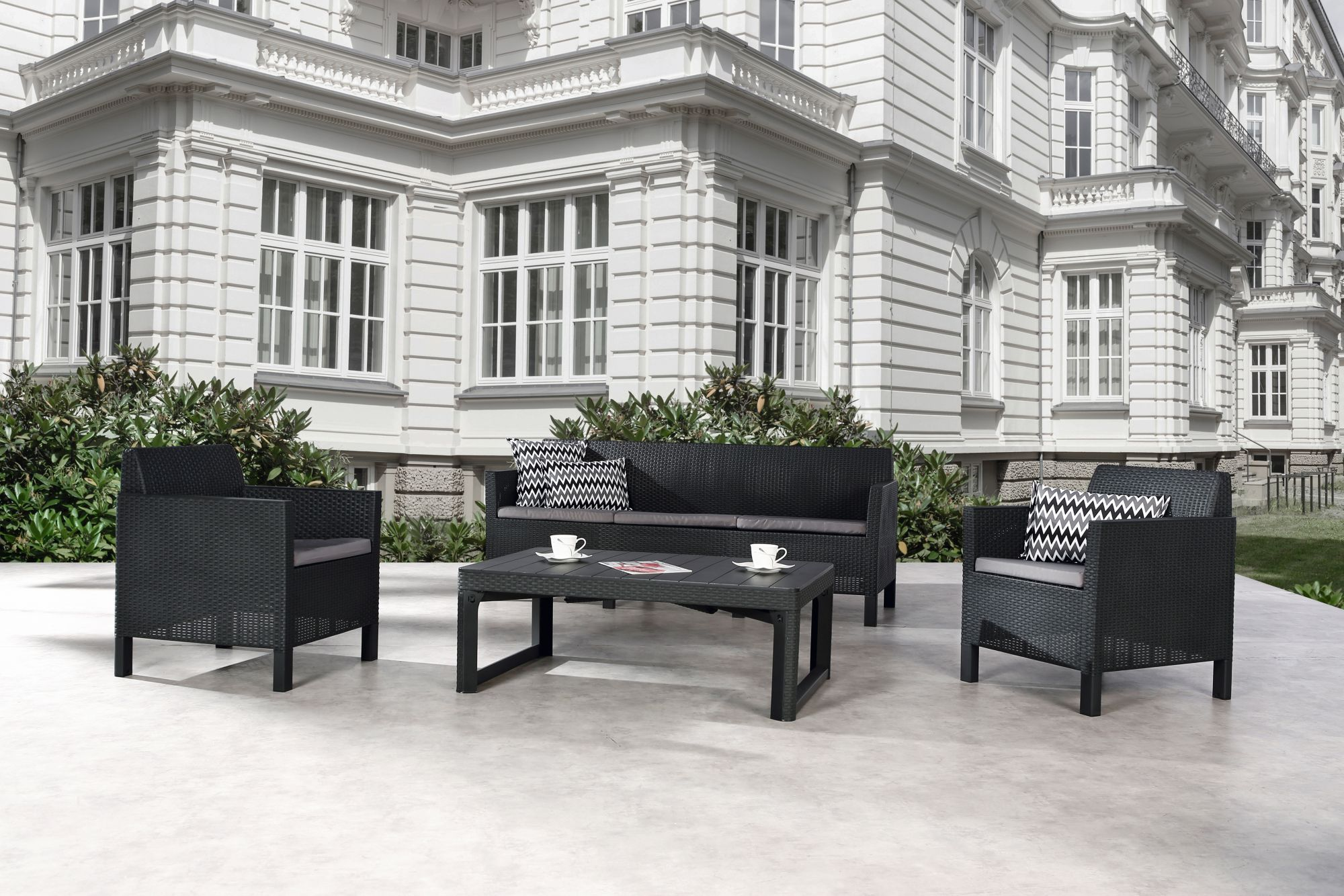 BEST Best Freizeitmöbel Loungegruppe Amalfi 4-teilig - groß