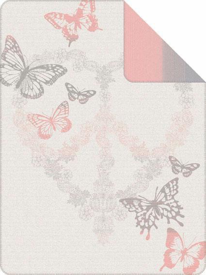 IBENA Wohndecke, Ibena, »Rovigo«, mit Schmetterlingen und Motiv