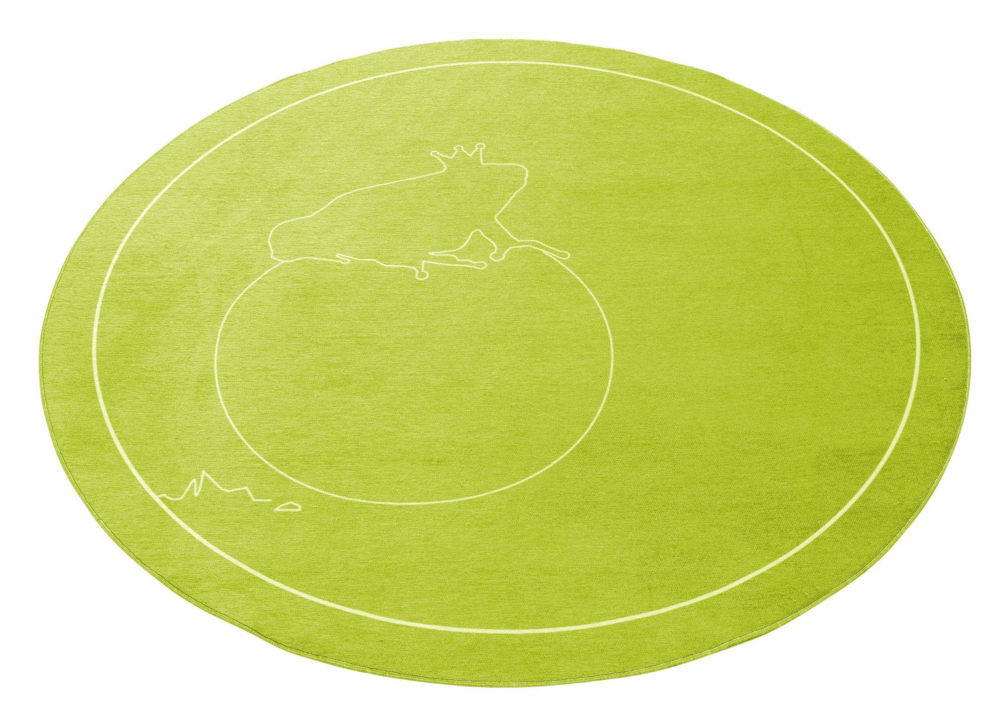 GRIMMLIIS Kinder-Teppich, rund, Grimmliis, »Märchen 2«, Höhe 2 mm,  Flachgewebe