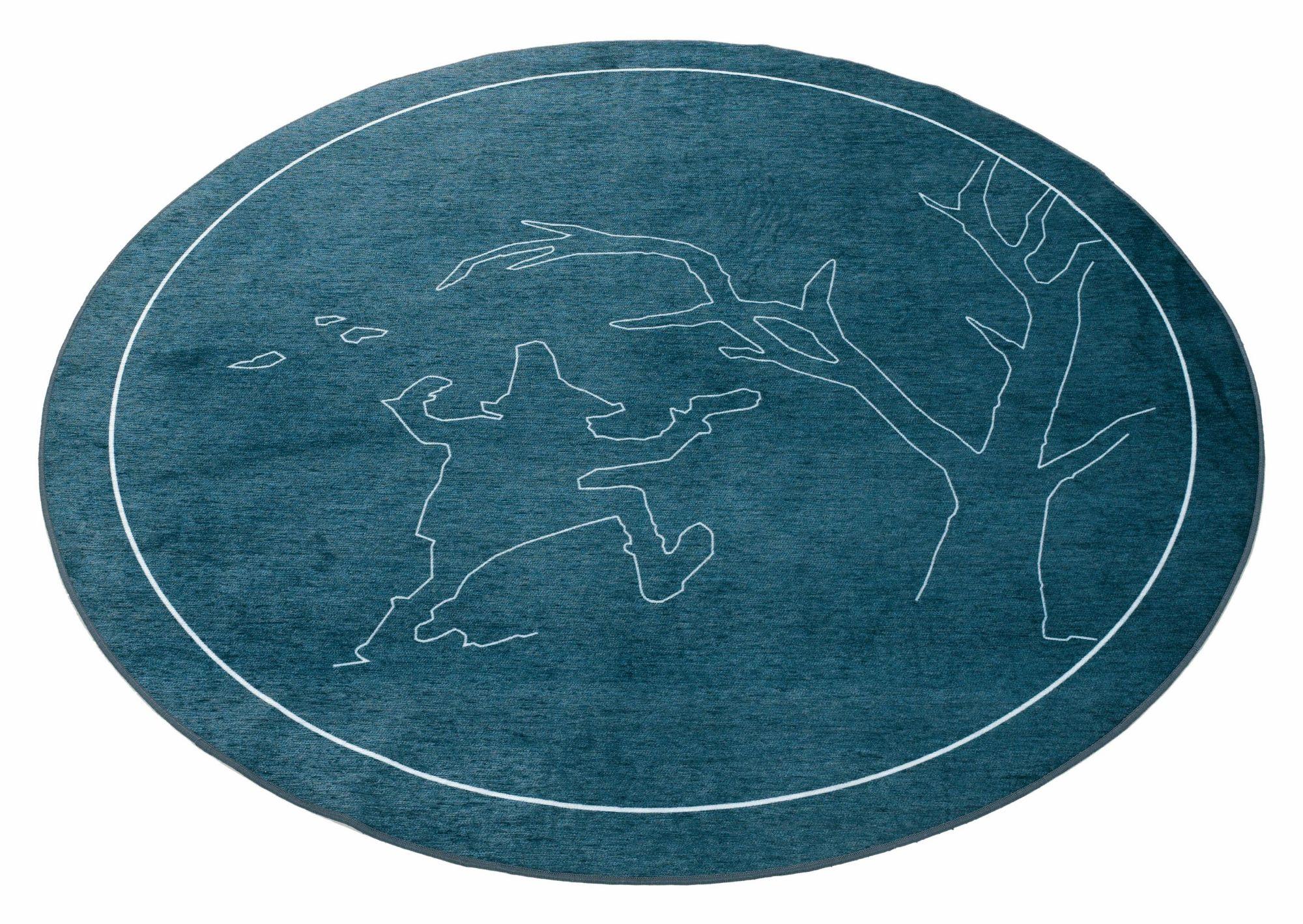 GRIMMLIIS Kinder-Teppich, rund, Grimmliis, »Märchen 4«, Höhe 2 mm,  Flachgewebe