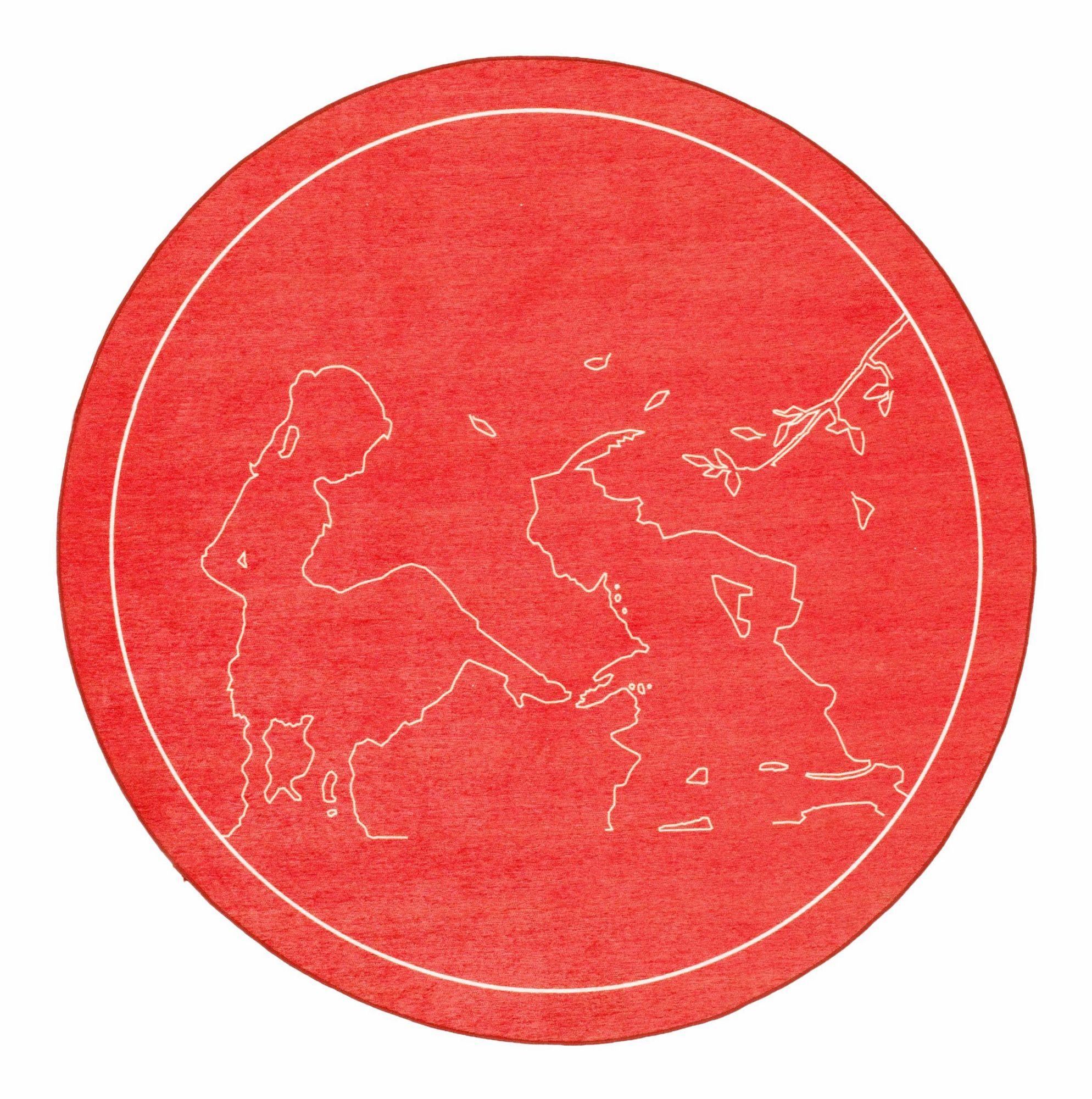 GRIMMLIIS Kinder-Teppich, rund, Grimmliis, »Märchen 5«, Höhe 2 mm,  Flachgewebe