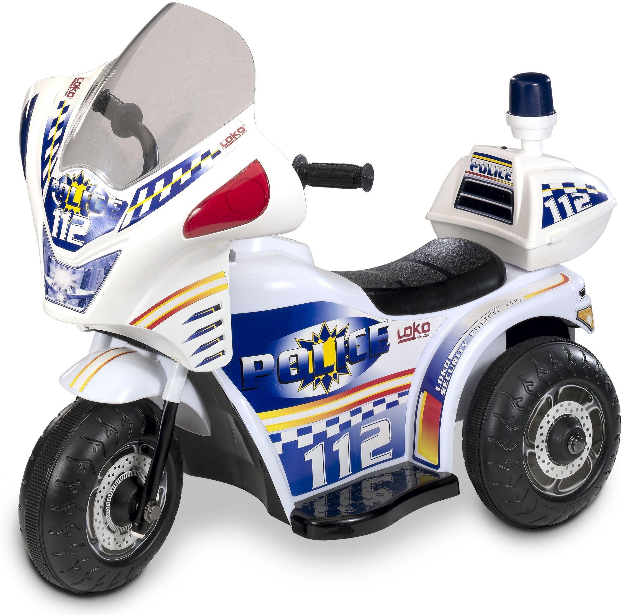 CARROMCO Carromco Elektrofahrzeug für Kinder, »Tribike, Polizei«
