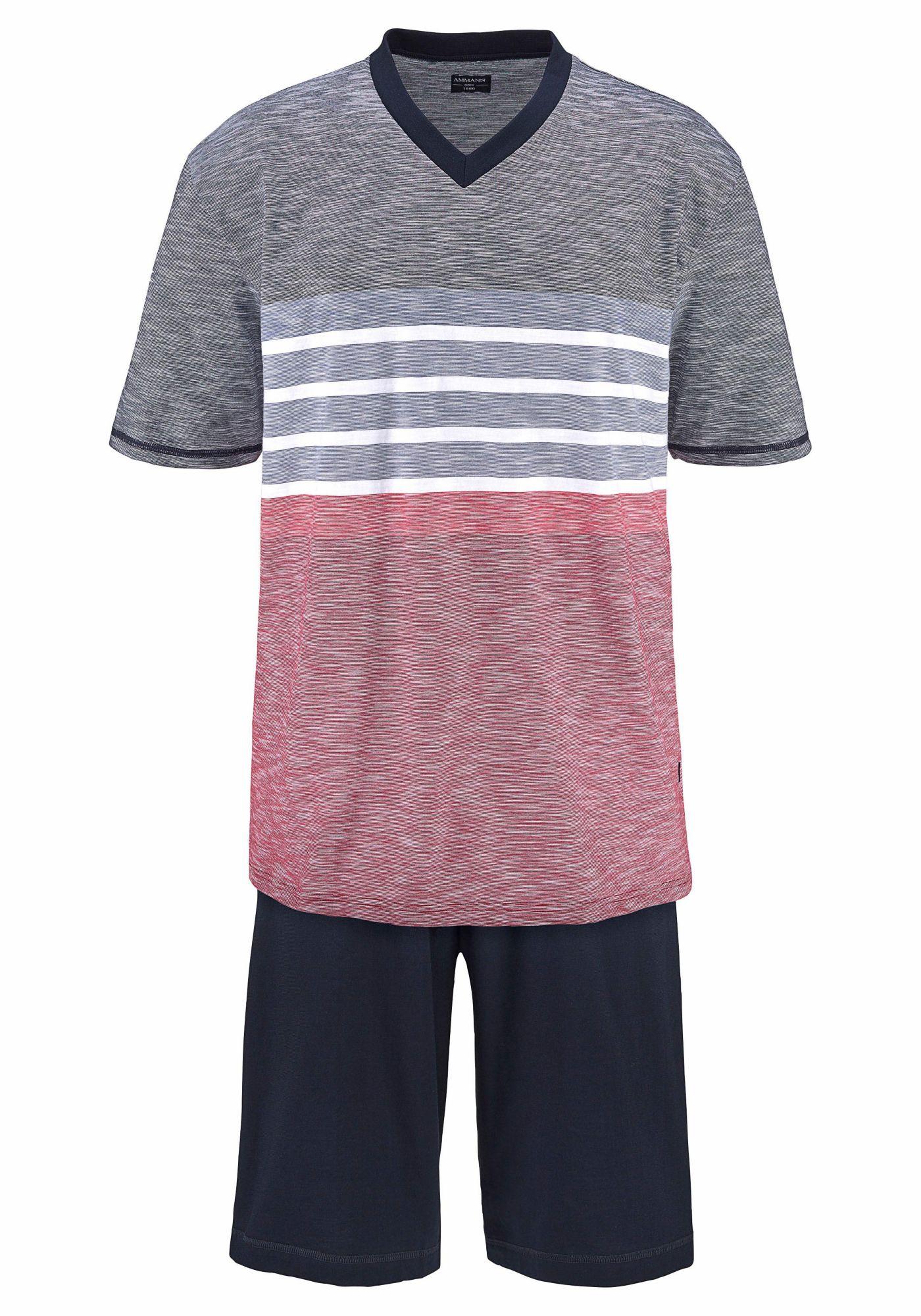 AMMANN Ammann Pyjama kurz in Melange Farben