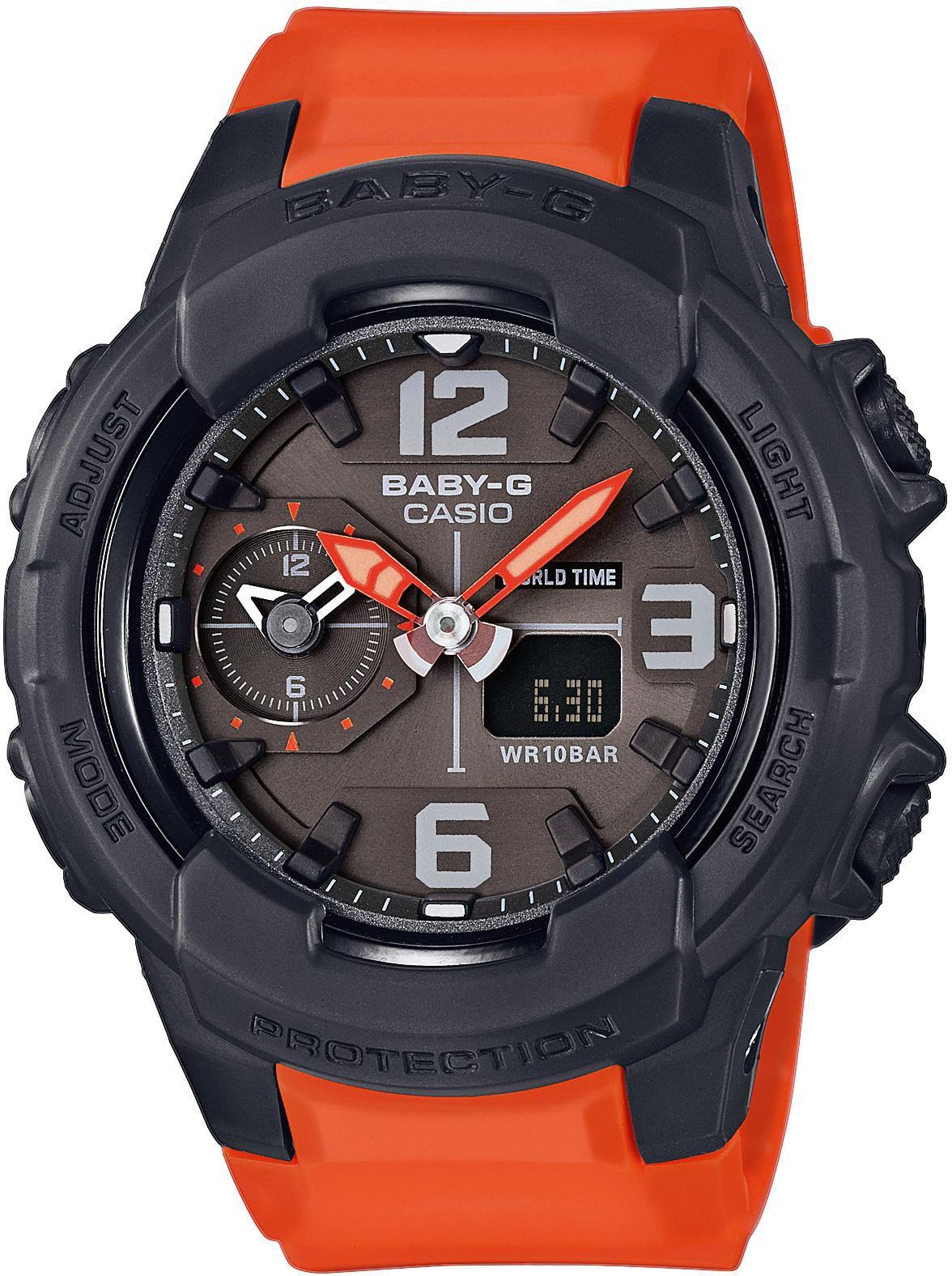 CASIO BABY G Baby-G Damenuhr Orange Casio schwarz