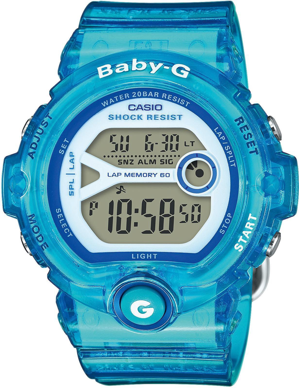 CASIO BABY G Baby-G Damenuhr Blau Casio anthrazit