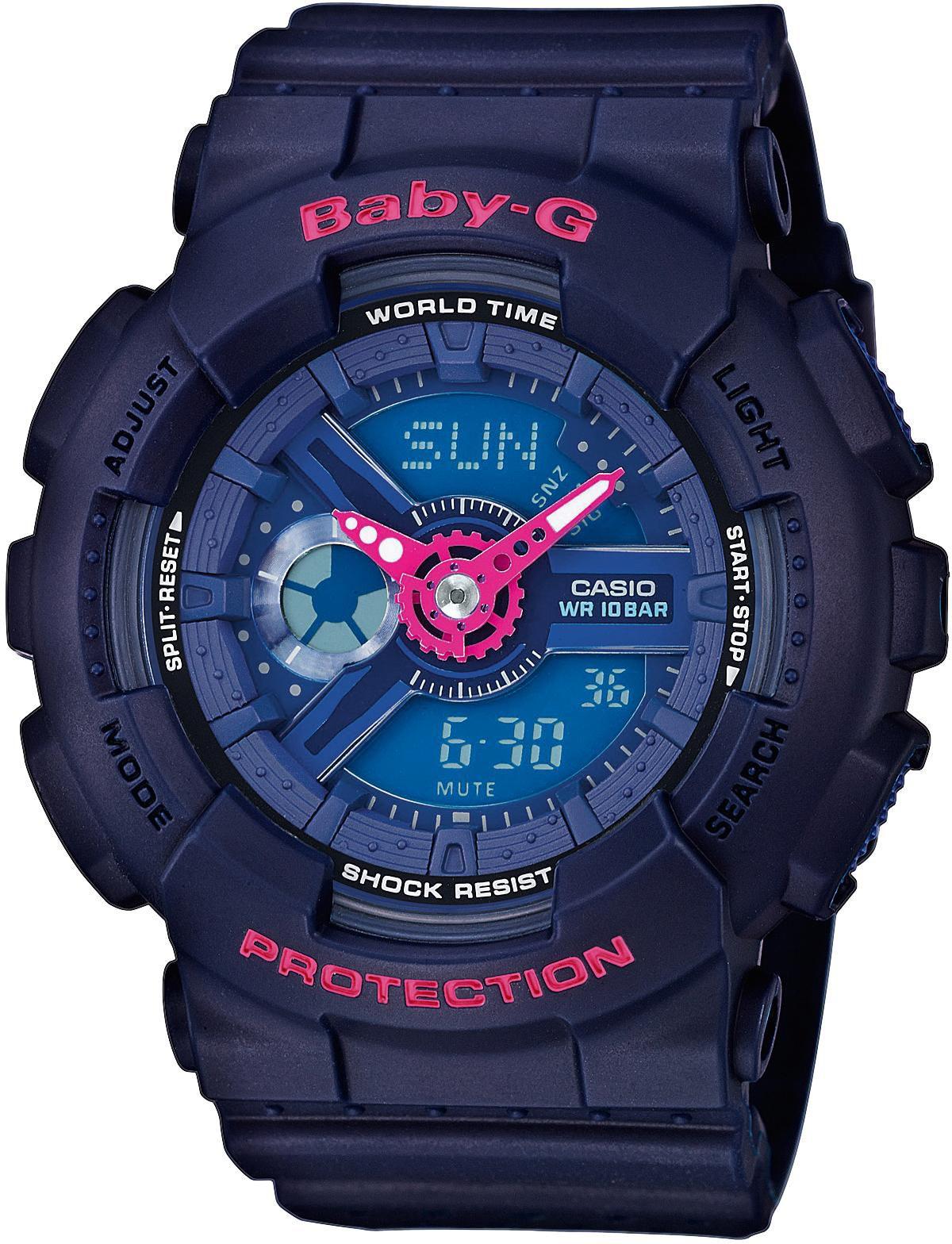 CASIO BABY G Baby-G Damenuhr Dunkelblau Casio blau