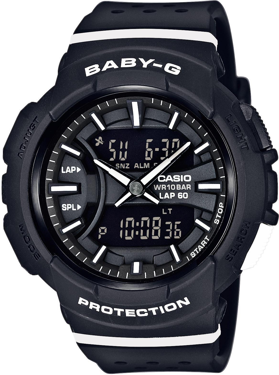 CASIO BABY G Baby-G AnaDigi Damenuhr Casio schwarz