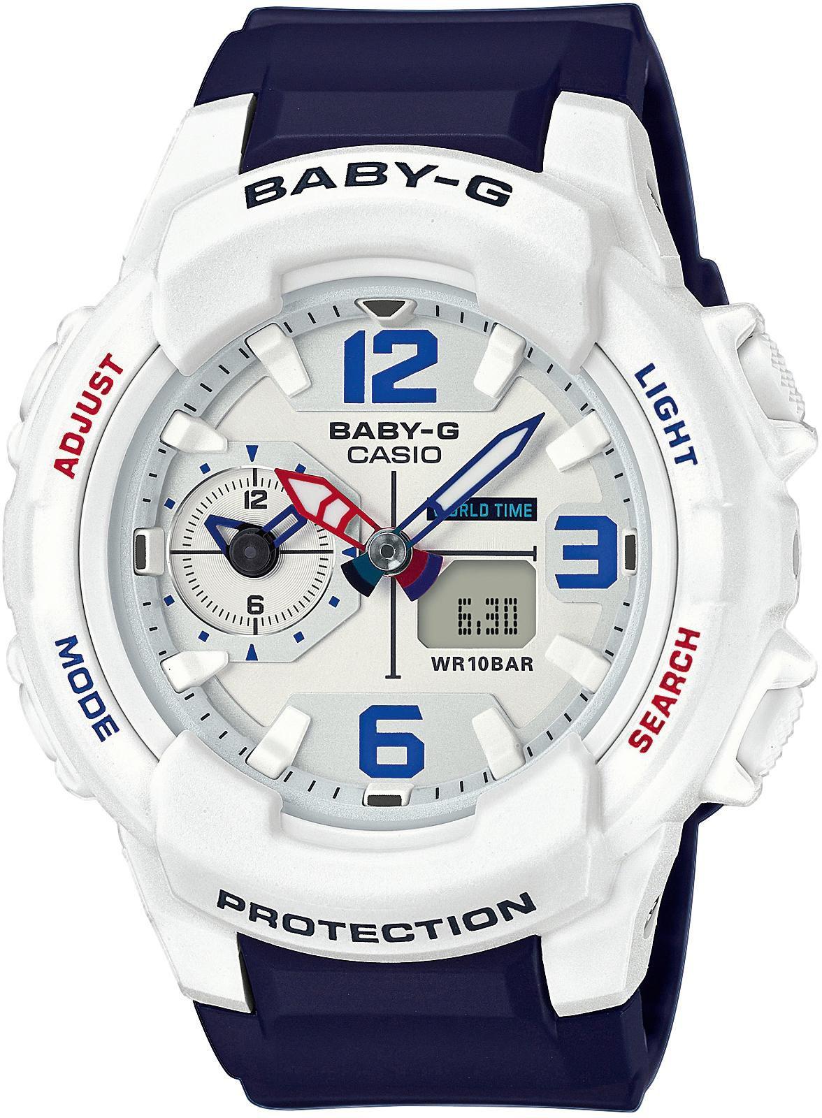 CASIO BABY G Baby-G Damenuhr Weiß/Blau Casio weiß