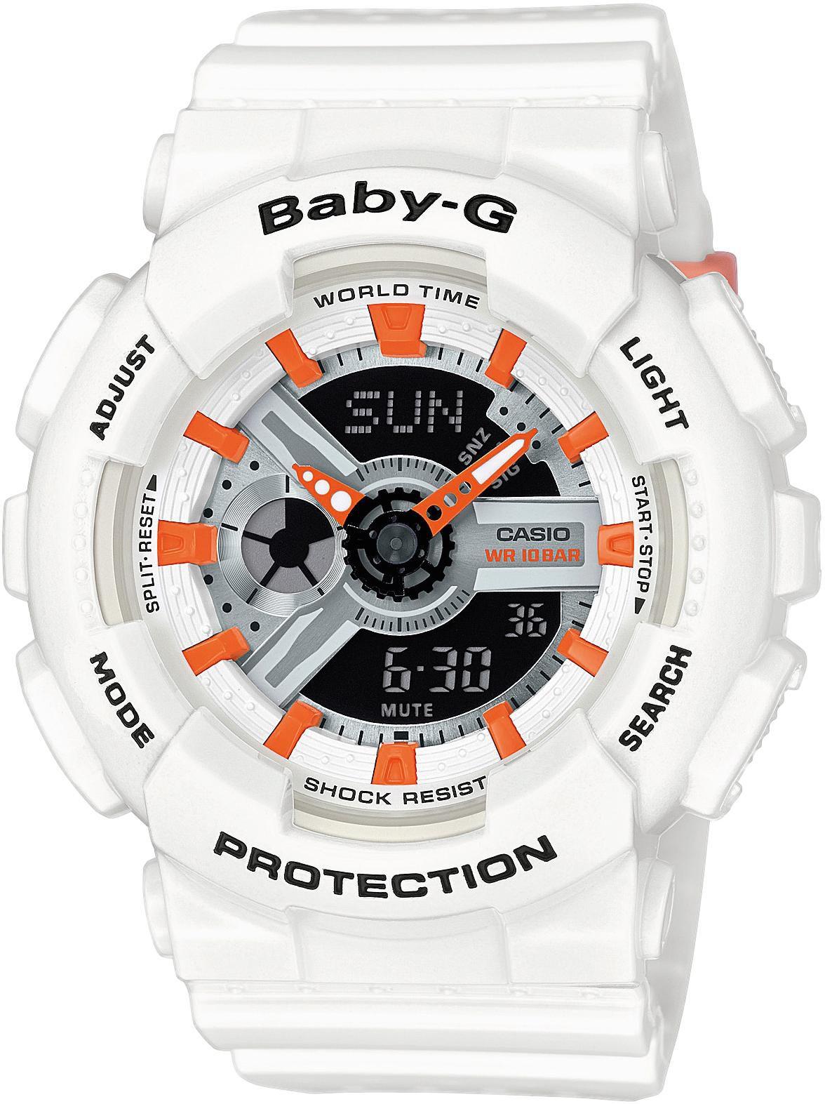 CASIO BABY G Baby-G Armbanduhr Weiß Casio silber