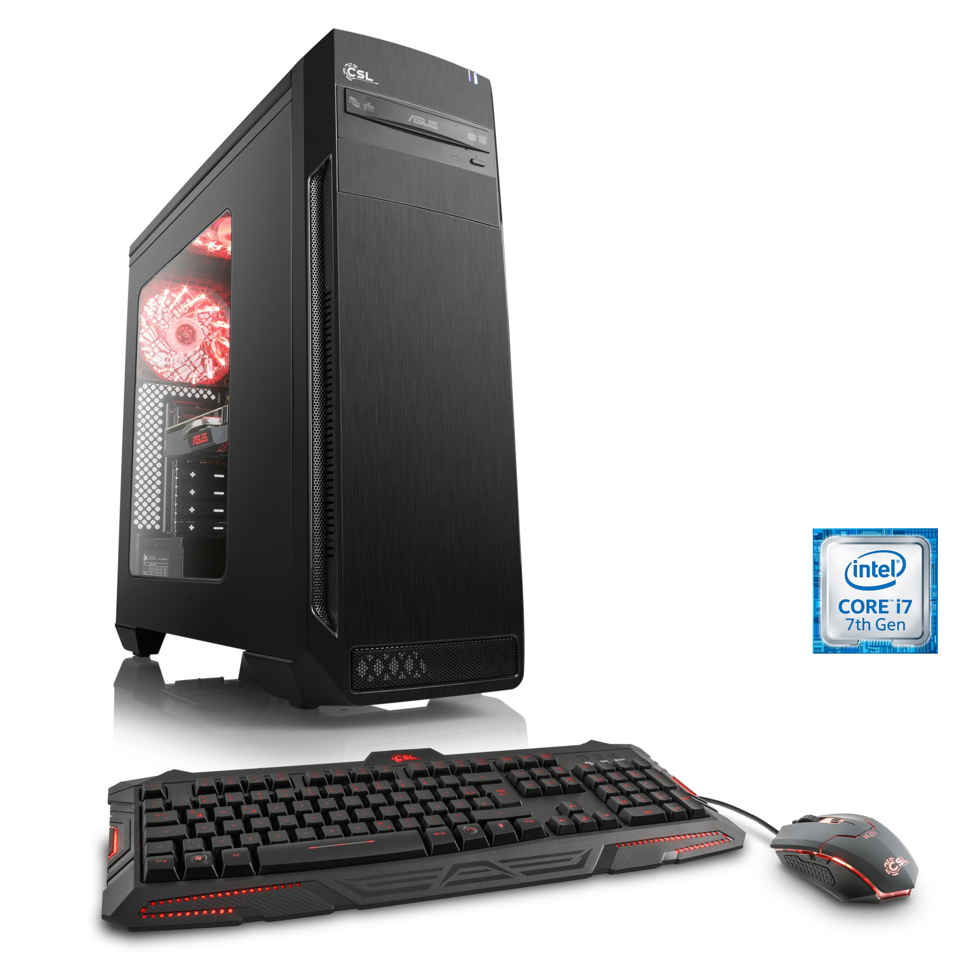 CSL  Extreme Gaming PC | Core i7-7700 | GTX 1080 | 16GB DDR4 | SSD »Speed T7786 Windows 10 Home«