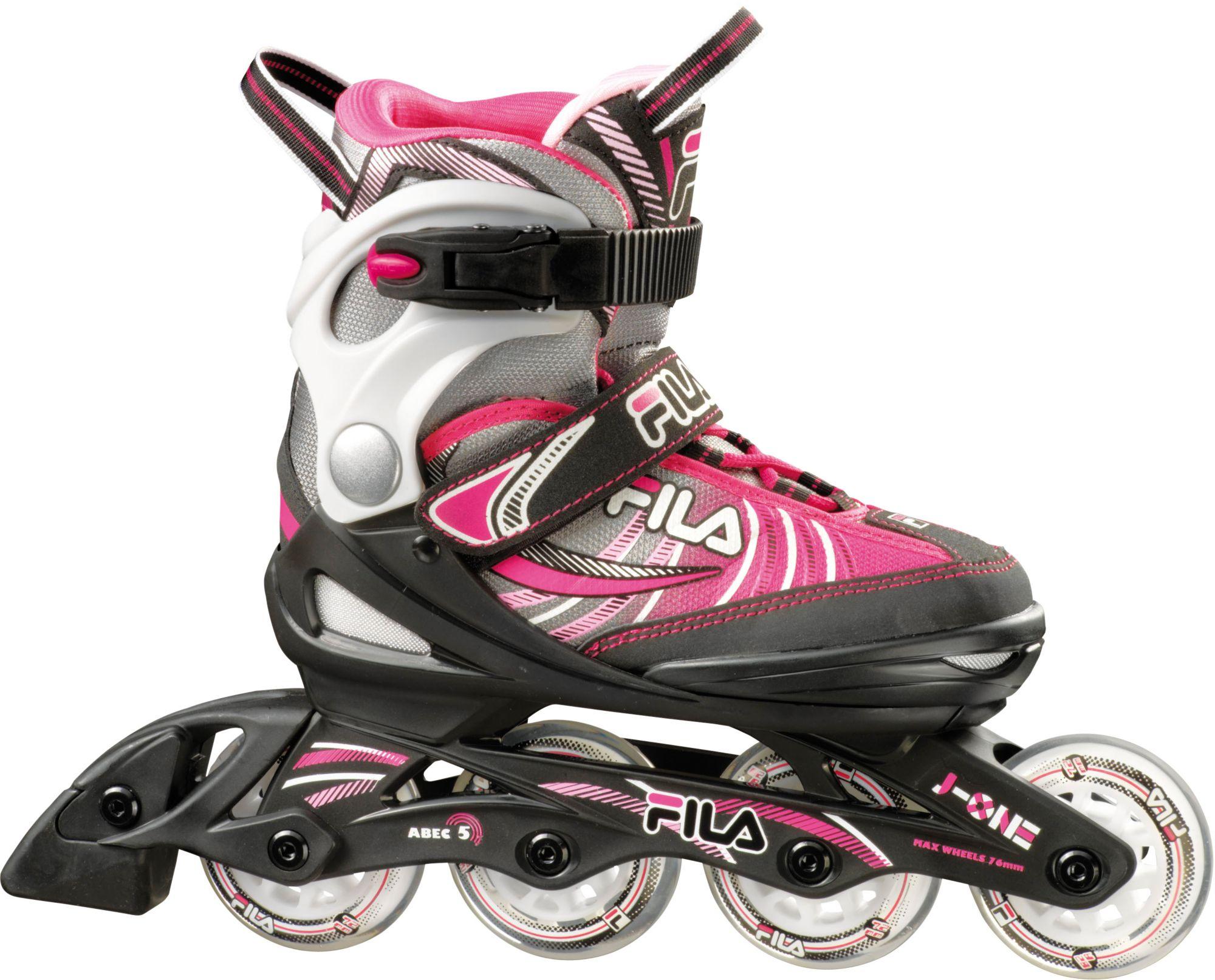 FILA Fila Kinder Inline Skates, »J-One Mädchen schwarz/grau/pink«