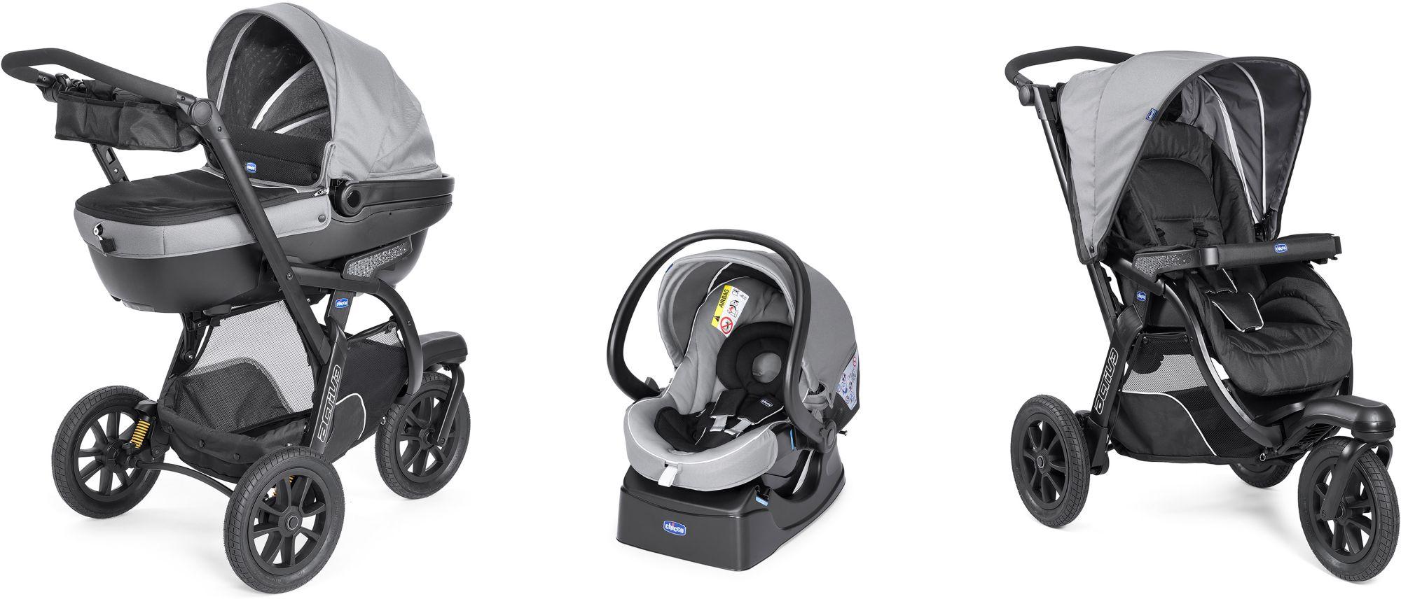 CHICCO Chicco® Kombi Kinderwagen, »Trio-System Activ3 Top mit Kit Car, dark grey«