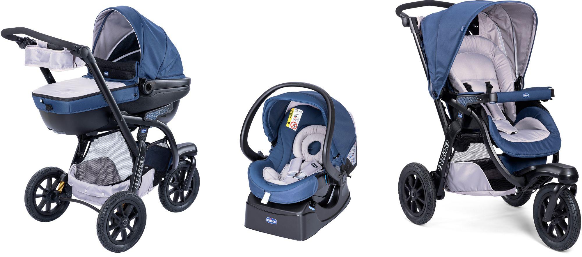 CHICCO Chicco® Kombi Kinderwagen, »Trio-System Activ3 Top mit Kit Car, blue passion«