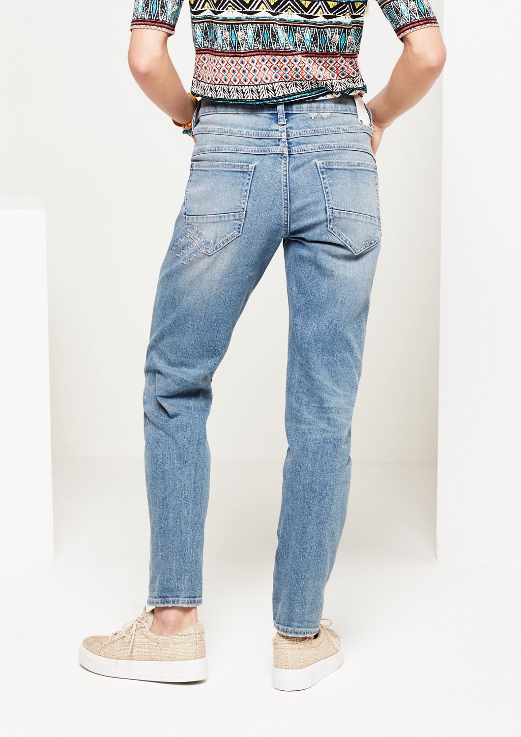 COMMA  7/8-Jeans im Used-Look