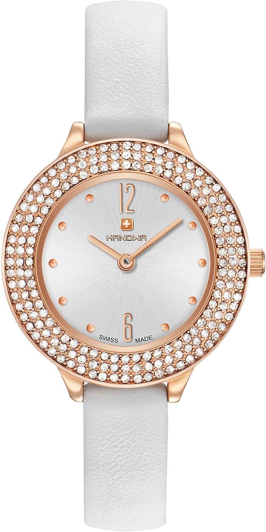 HANOWA Hanowa Schweizer Uhr »ALESSIA SET, 16-8008.09.001SET« (Set, 5 tlg.)