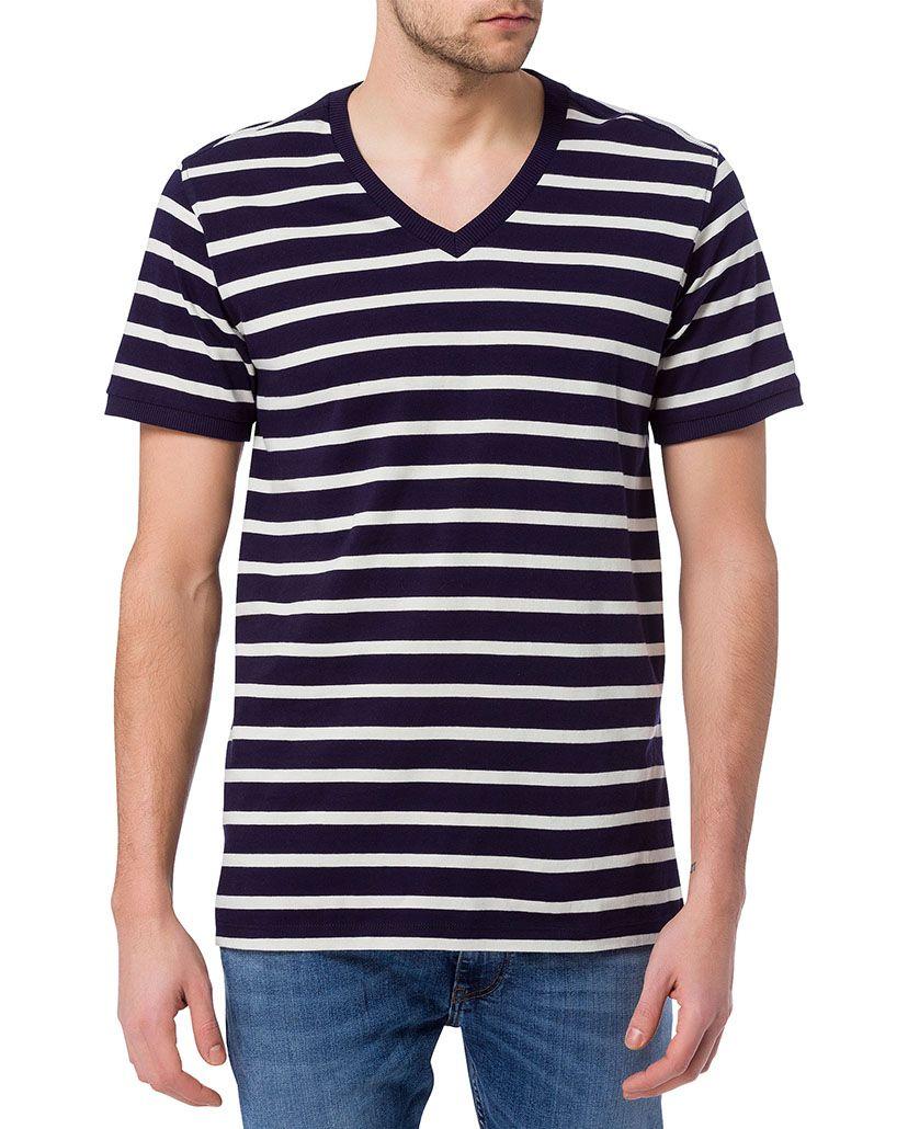 CROSS JEANS ® CROSS Jeans ® T-Shirt mit V-Ausschnitt