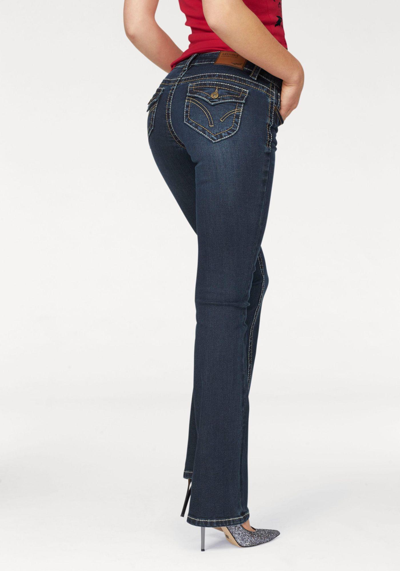 ARIZONA Arizona Bootcut-Jeans »mit Kontrastnähten  und Pattentaschen«