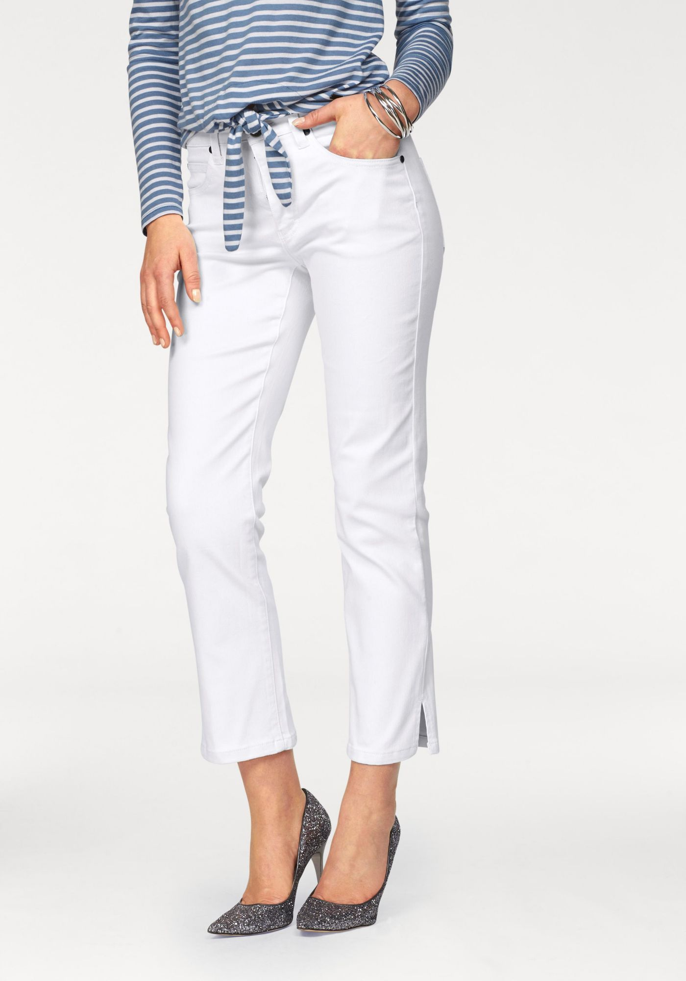 ARIZONA Arizona 7/8-Jeans »seitliche Schlitze am Saum«