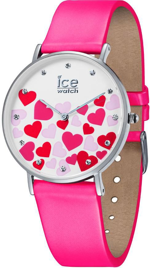 ICE WATCH ice-watch Quarzuhr »ICE LOVE 2017 - CITY NEON PINK - Small, 013374«