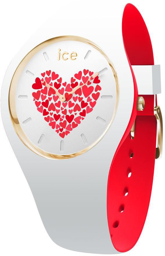 ICE WATCH ice-watch Quarzuhr »ICE LOVE 2017 - Weiß ROTATING DISC - Medium, 013372«