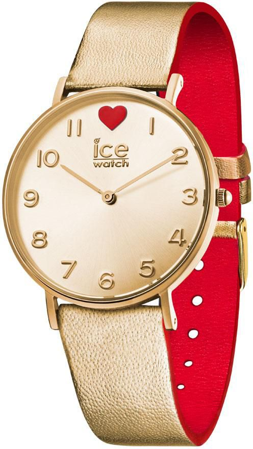 ICE WATCH ice-watch Quarzuhr »ICE LOVE 2017 - CITY Gold - Small, 013376«