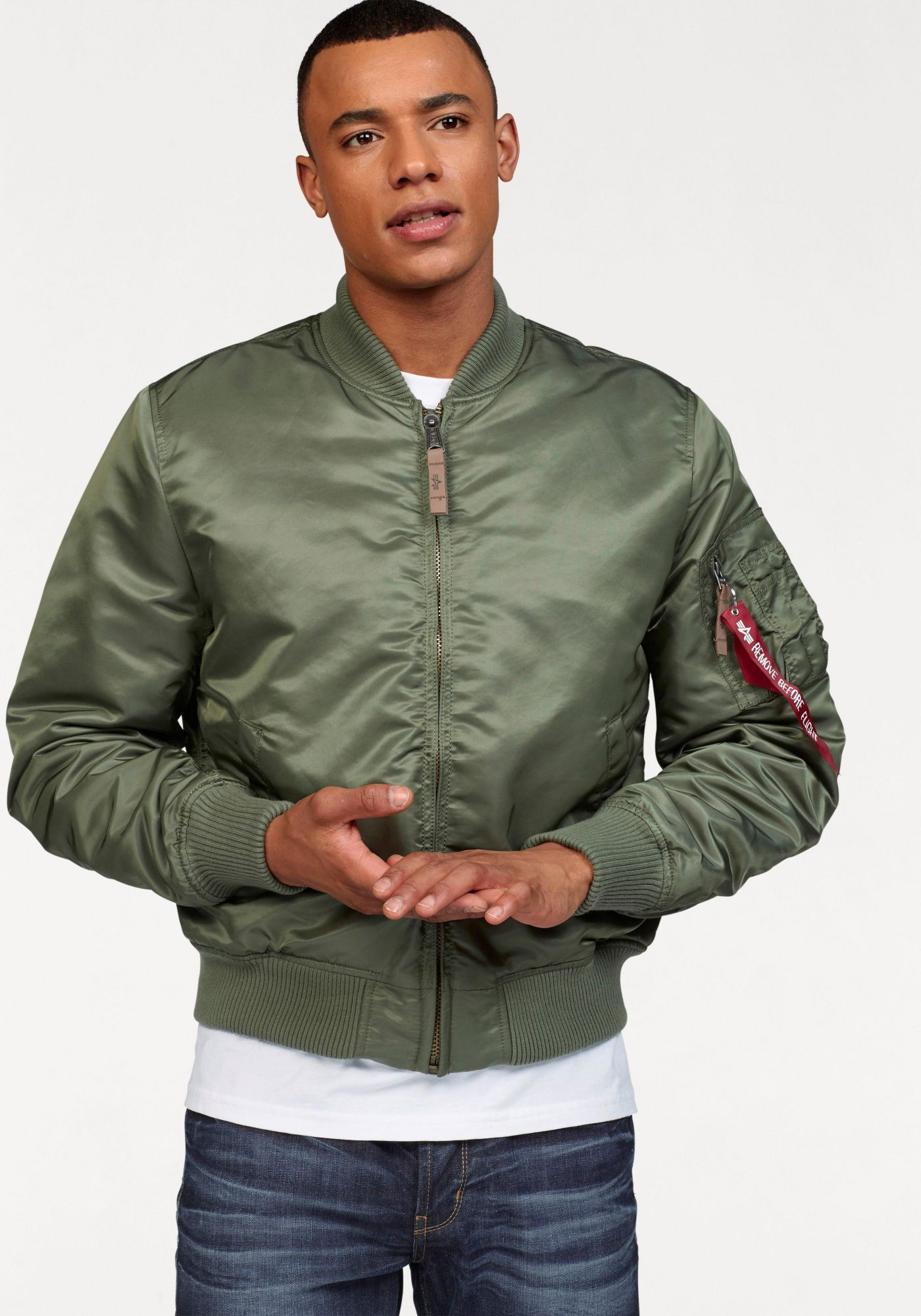 ALPHA INDUSTRIES Alpha Industries Bomberjacke »MA-1 gefüttert«