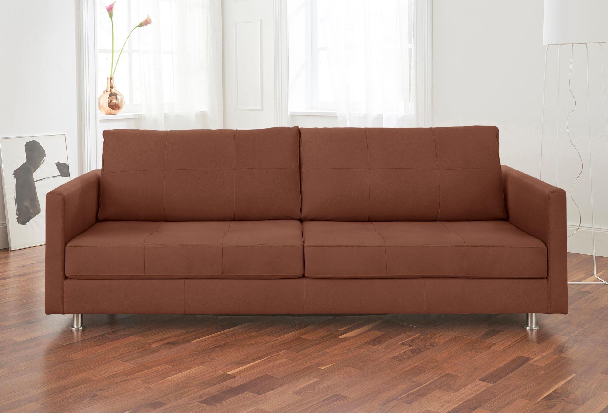 ALTE GERBEREI Alte Gerberei 3-Sitzer Sofa »Vincent« mit Steppung, inklusive Rückenkissen