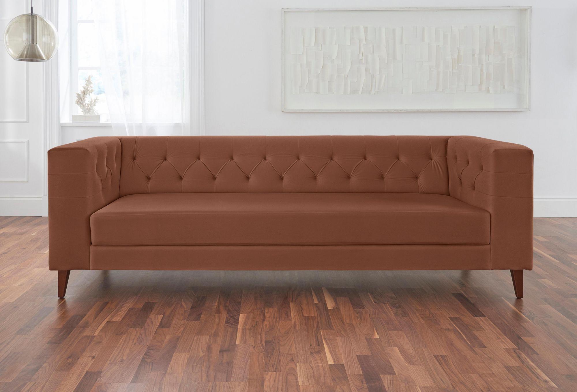ALTE GERBEREI Alte Gerberei 3-Sitzer Sofa »Evelin« mit Knopfheftung