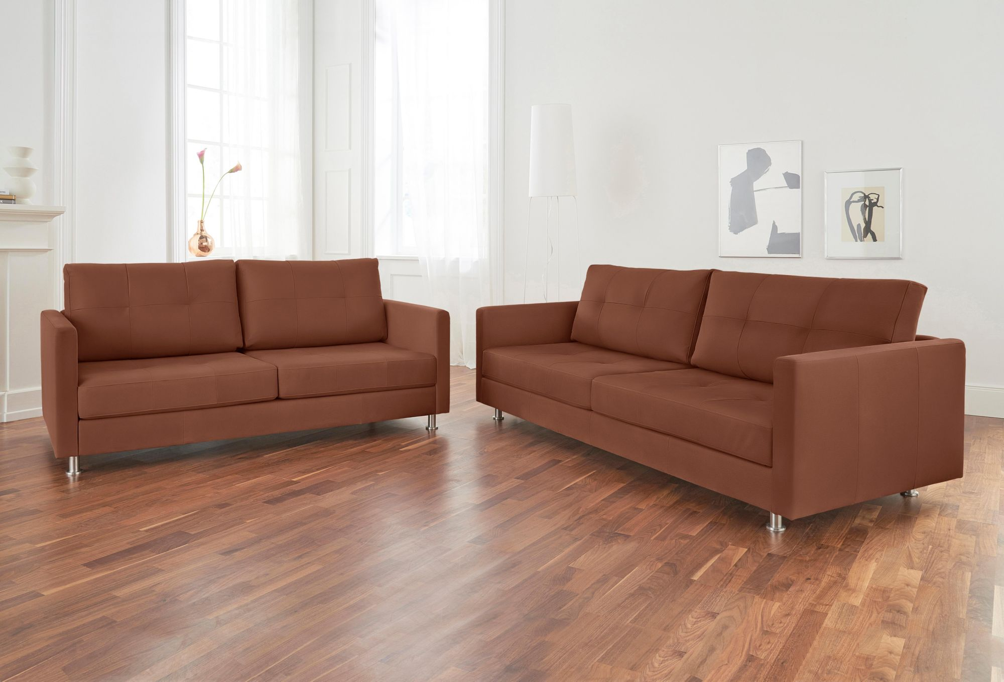 ALTE GERBEREI Alte Gerberei 2-Sitzer Sofa »Vincent« mit Steppung, inklusive Rückenkissen
