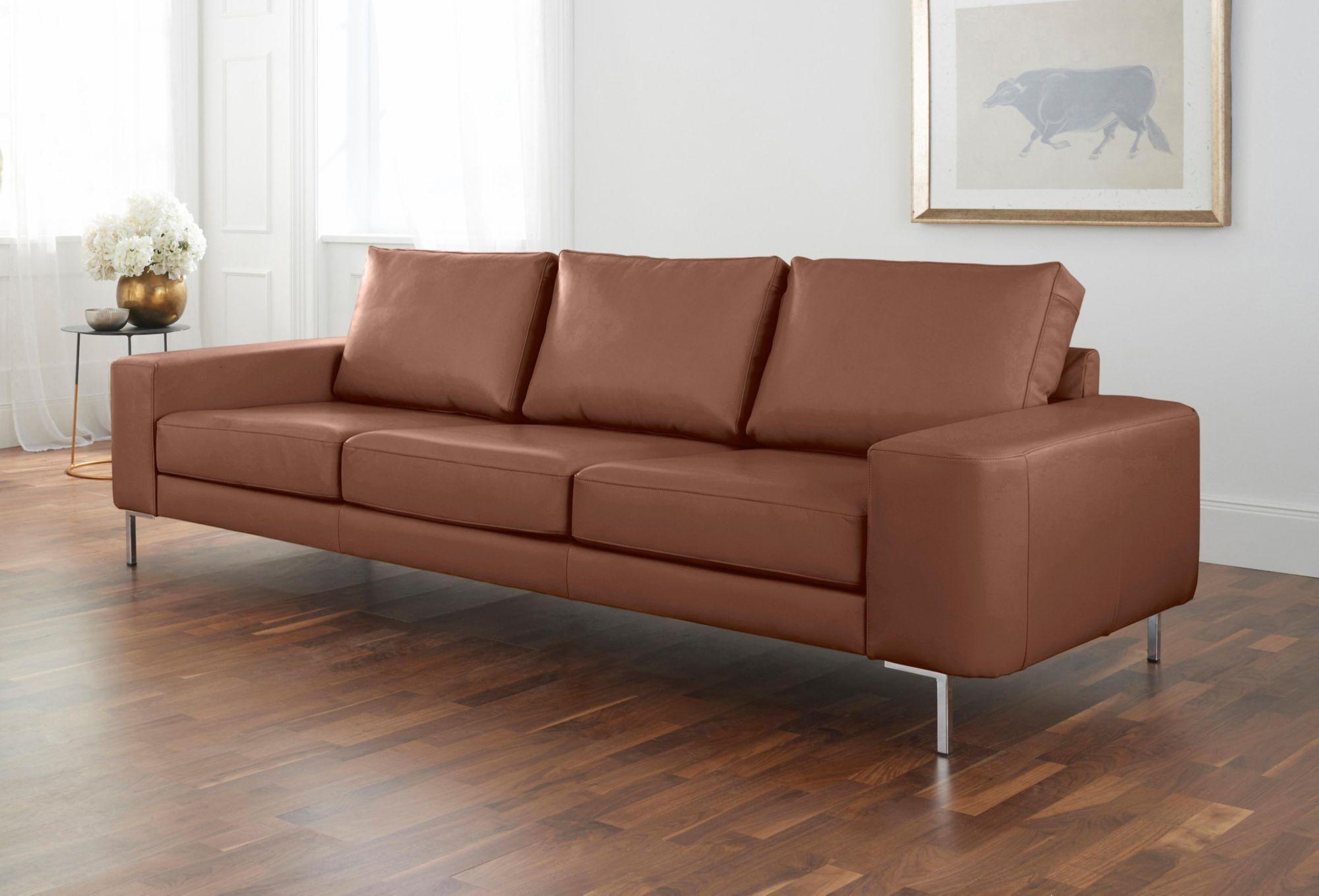 ALTE GERBEREI Alte Gerberei 3-Sitzer Sofa »Lexgaard« mit großer Bodenfreiheit, inklusive Rückenkissen