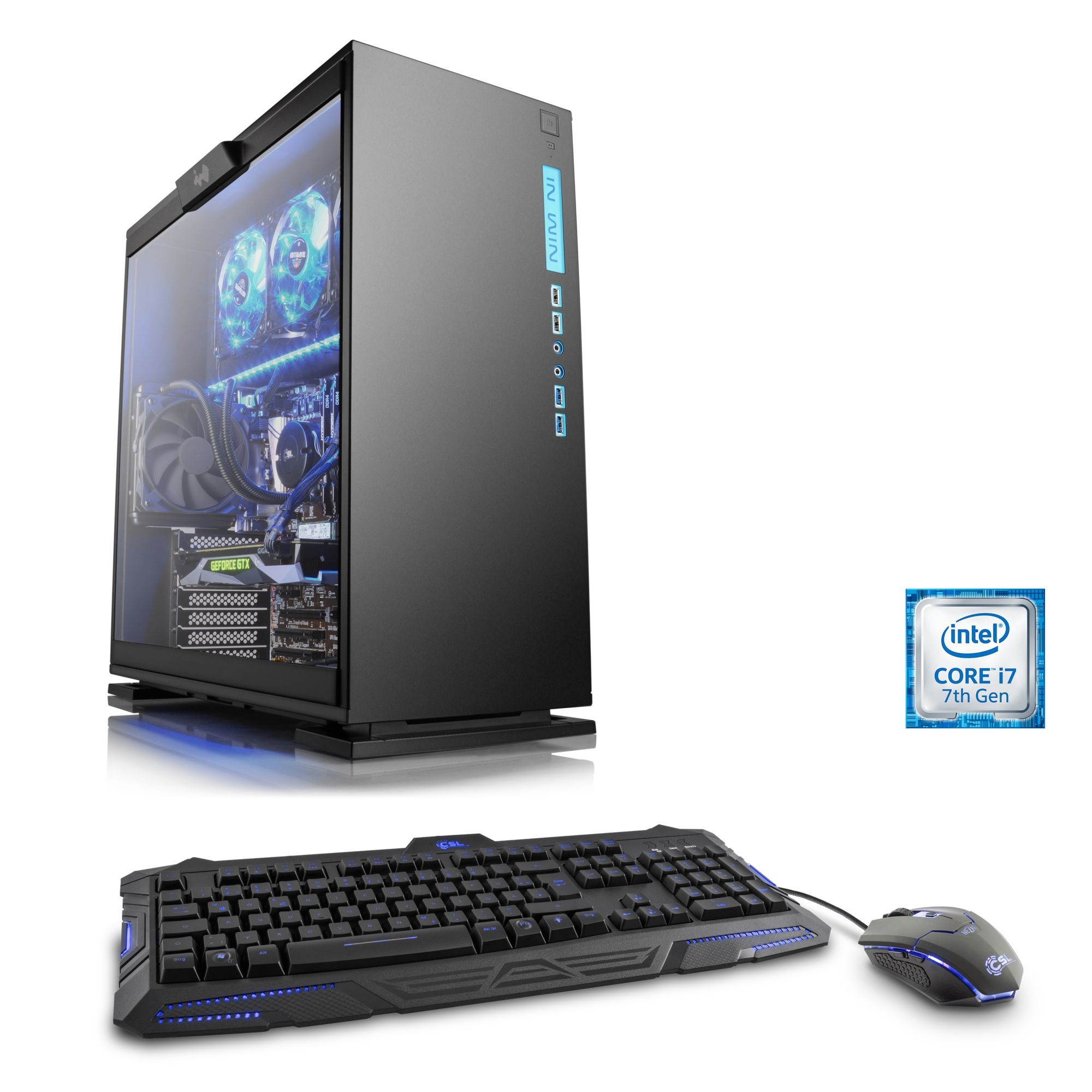 CSL  Extreme Gaming PC | i7-7700K | GTX 1080 Ti | 32 GB DDR4 | SSD »HydroX T7255 Powered by ASUS«