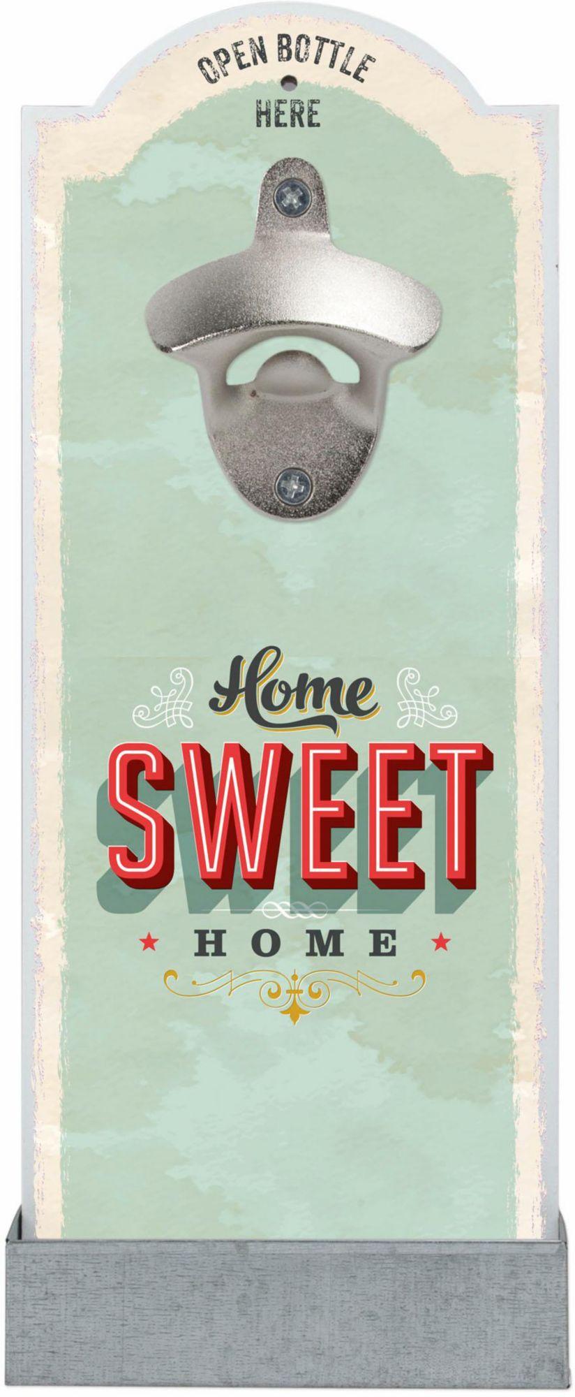 CONTENTO Contento Wand-Flaschenöffner »Home Sweet Home«, MDF, Digitaldruck