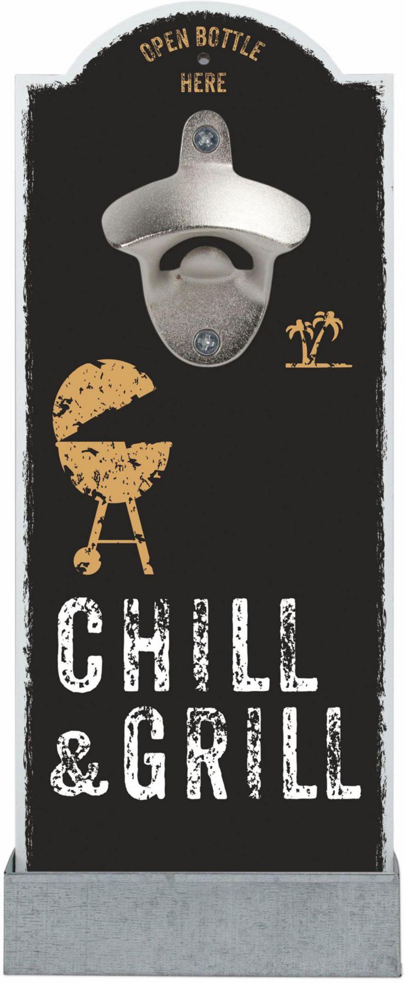CONTENTO Contento Wand-Flaschenöffner »Chill & Grill«, MDF, Digitaldruck