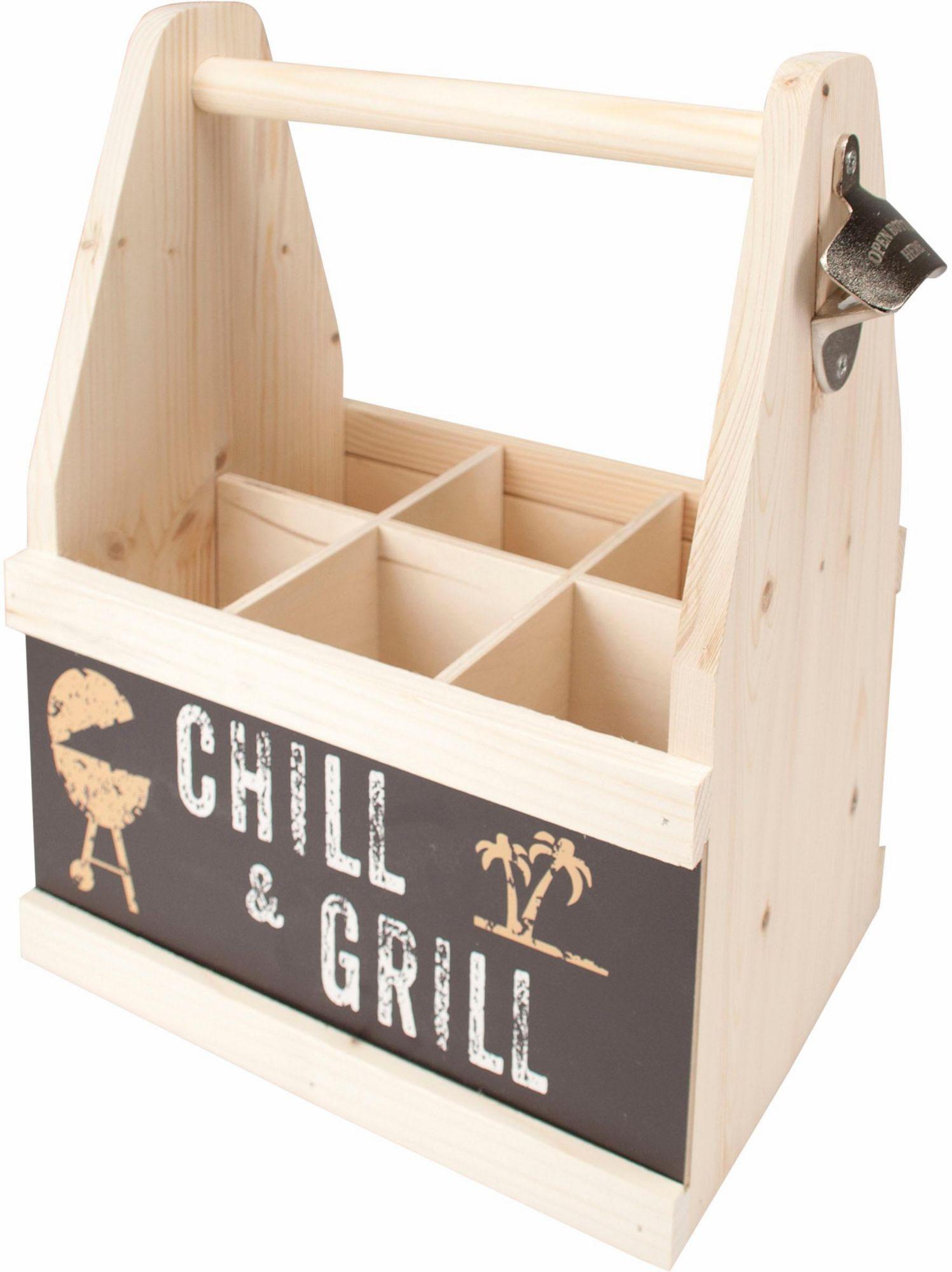 CONTENTO Contento Bier Caddy »Chill & Grill«, Holz