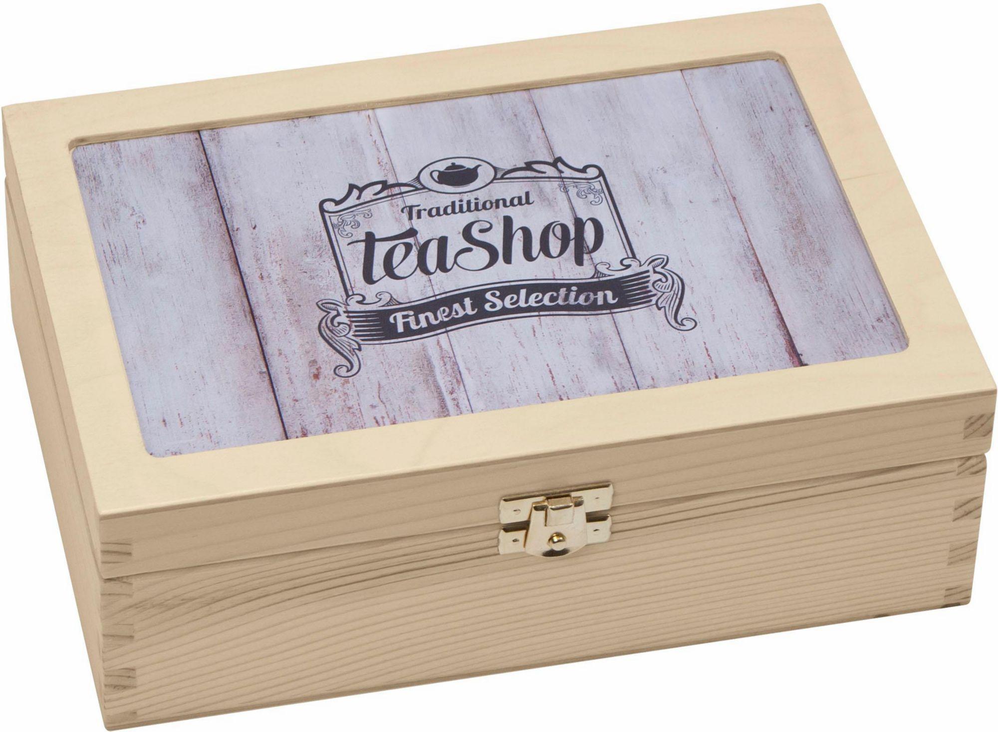 CONTENTO Contento Teebox »Traditional Tea-Shop Finest Selection«, Holz