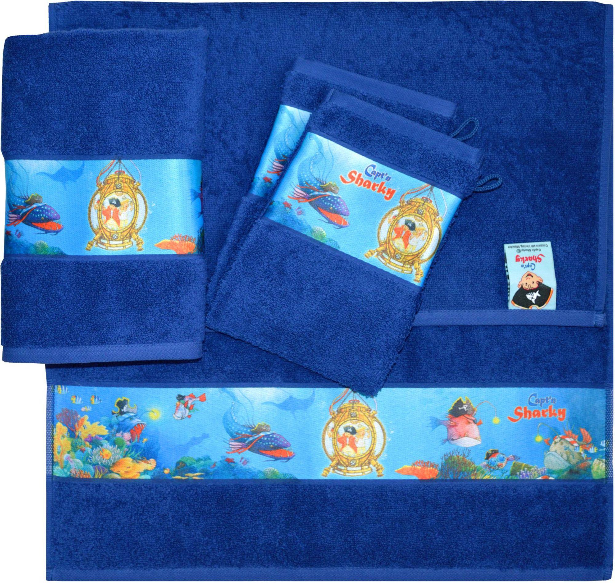 CAPTN SHARKY Handtuch Set, Capt`n Sharky, »Sharky«, mit Meeres Motiven