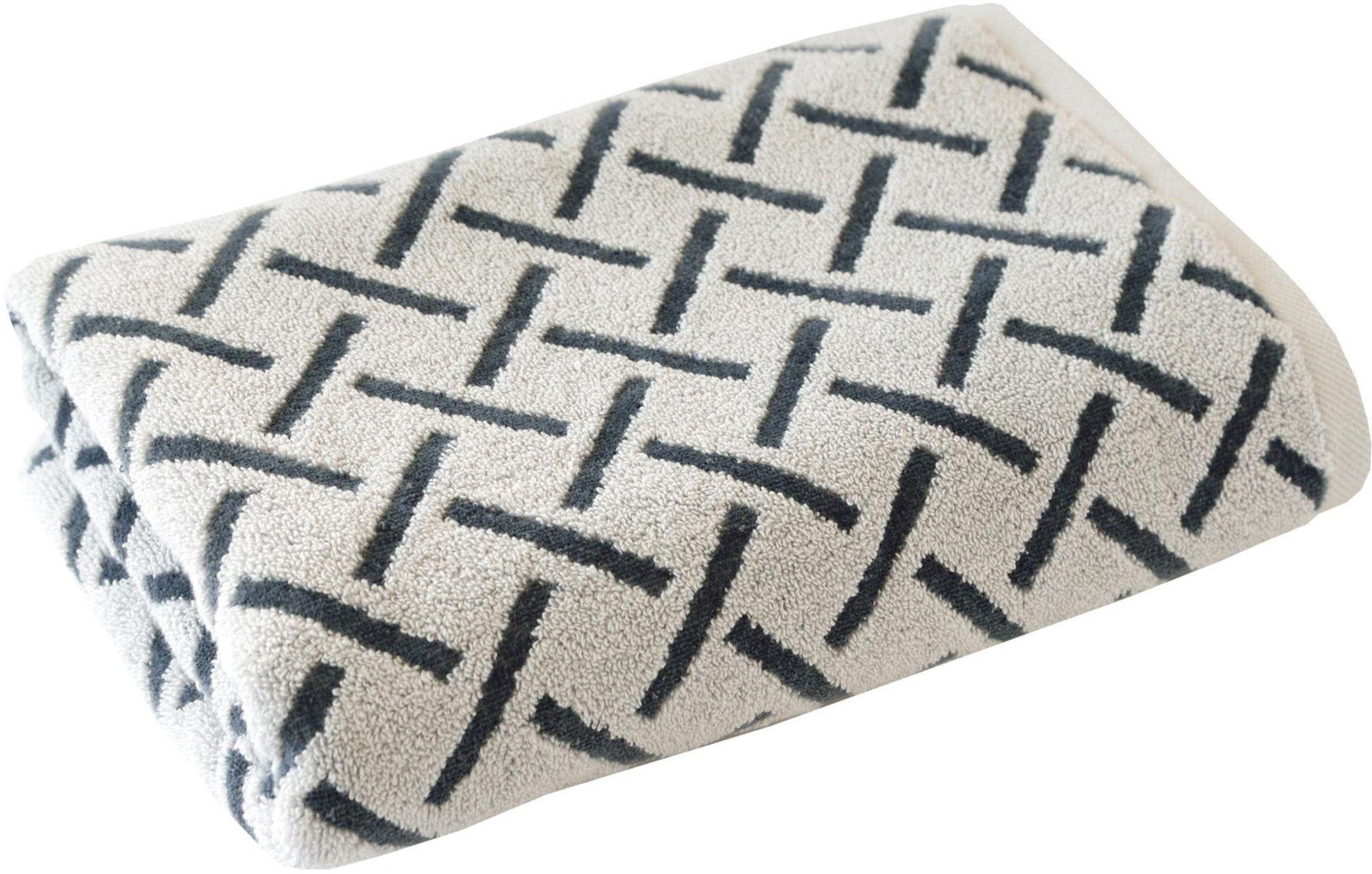 DYCKHOFF Badetuch, Dyckhoff, »Stripes«, mit Muster und Bordüre versehen