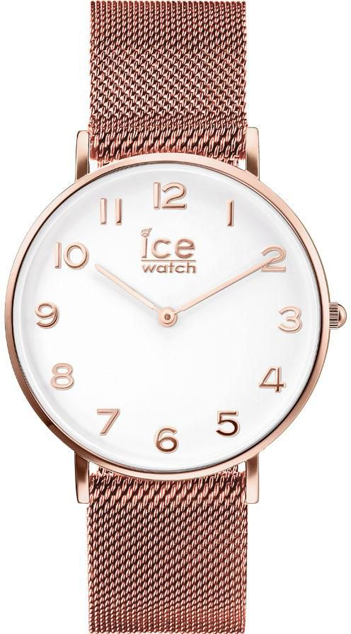 ICE WATCH ice-watch Quarzuhr »CITY milanese - Rose-Gold shiny - White dial - Small , 012711«