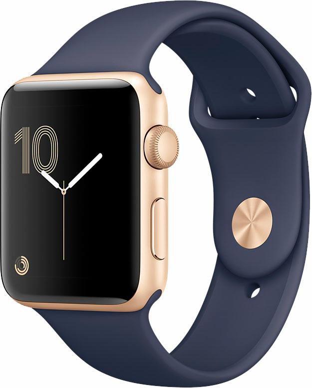 APPLE Apple Watch Aluminiumgehäuse Gold, 38mm, mit Sportarmband
