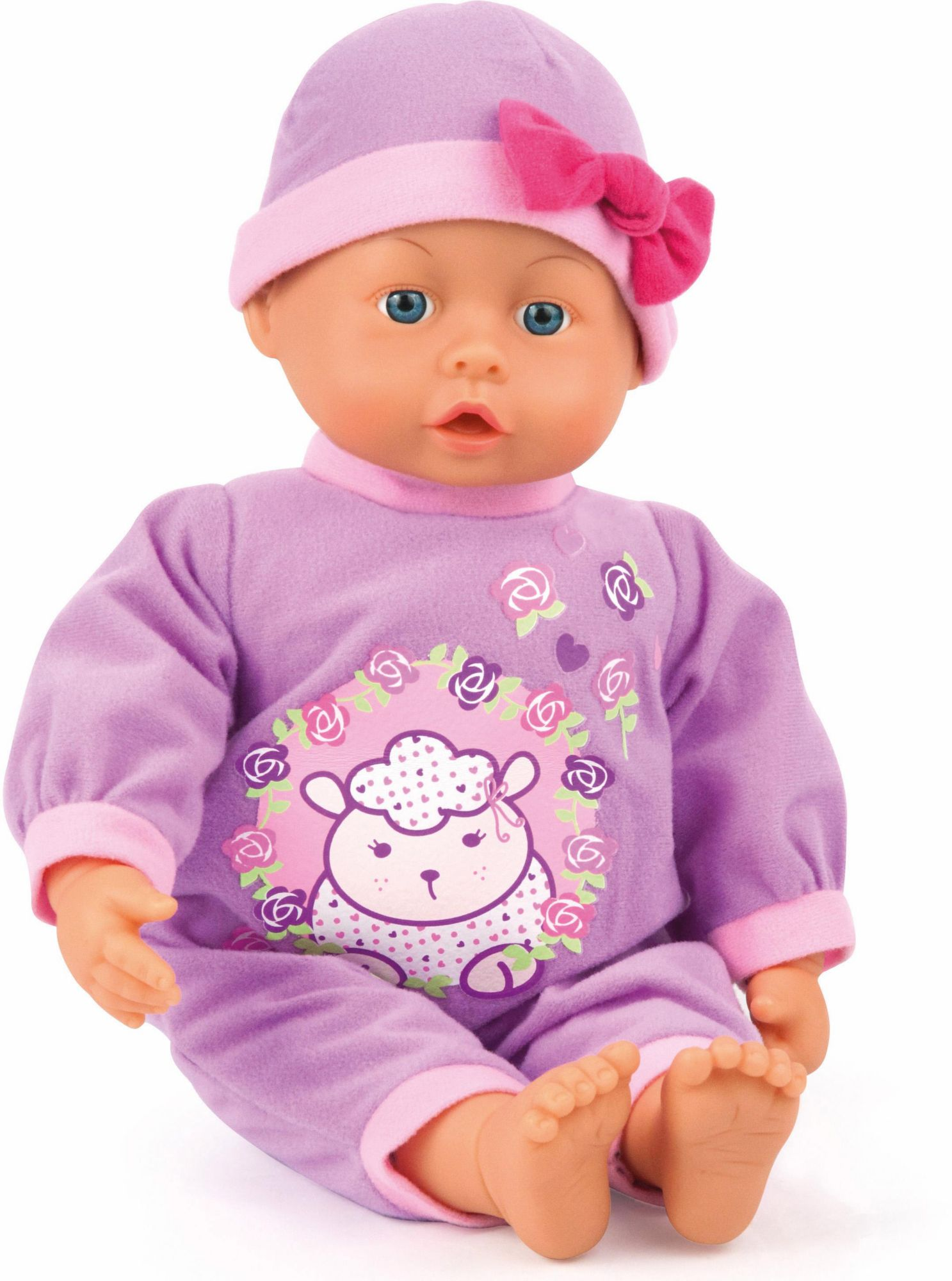 BAYER Bayer Design Babypuppe mit Funktion, »First Words Baby, lila 38 cm«