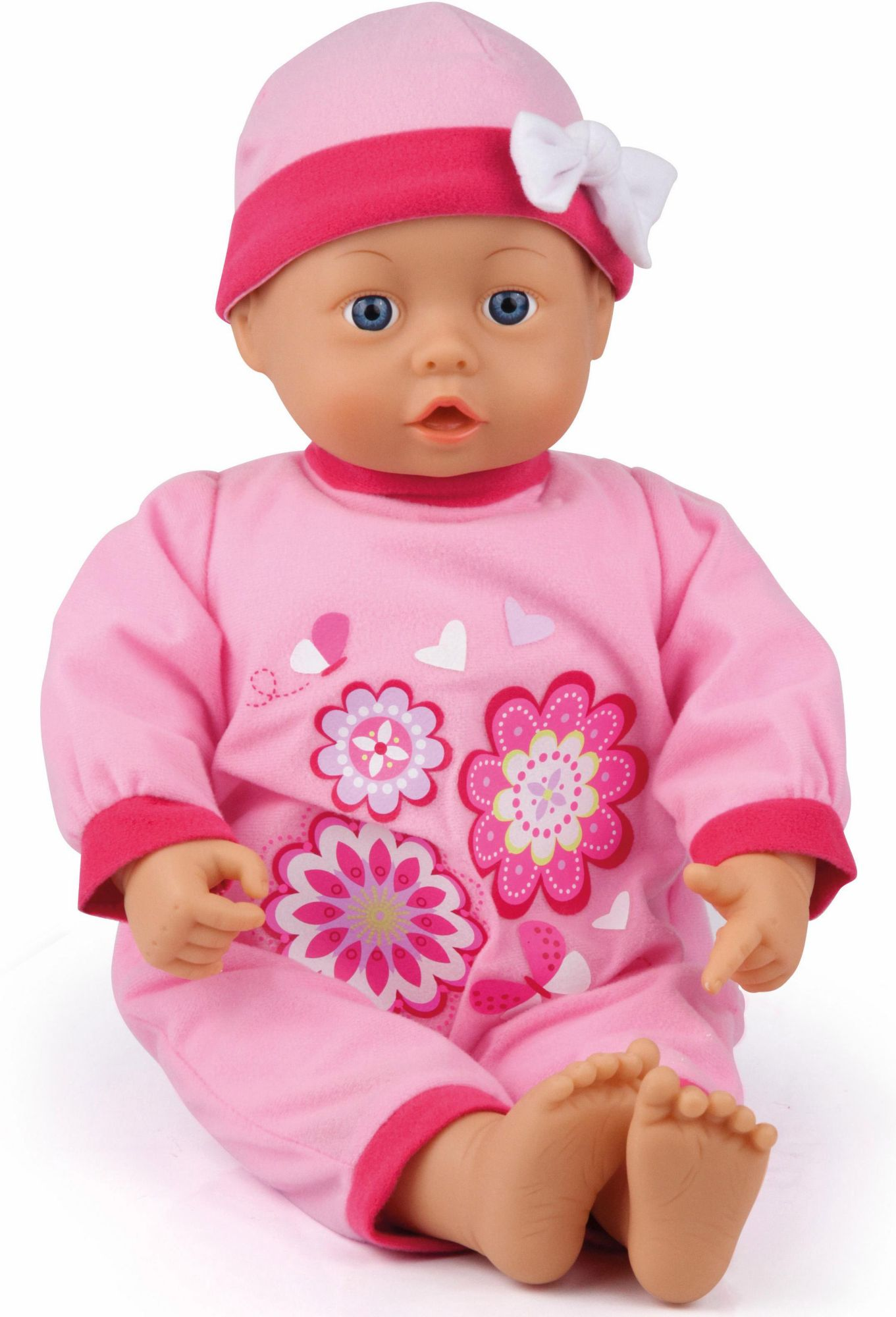 BAYER Bayer Design Babypuppe mit Funktion, »First Words Baby, rosa 46 cm«