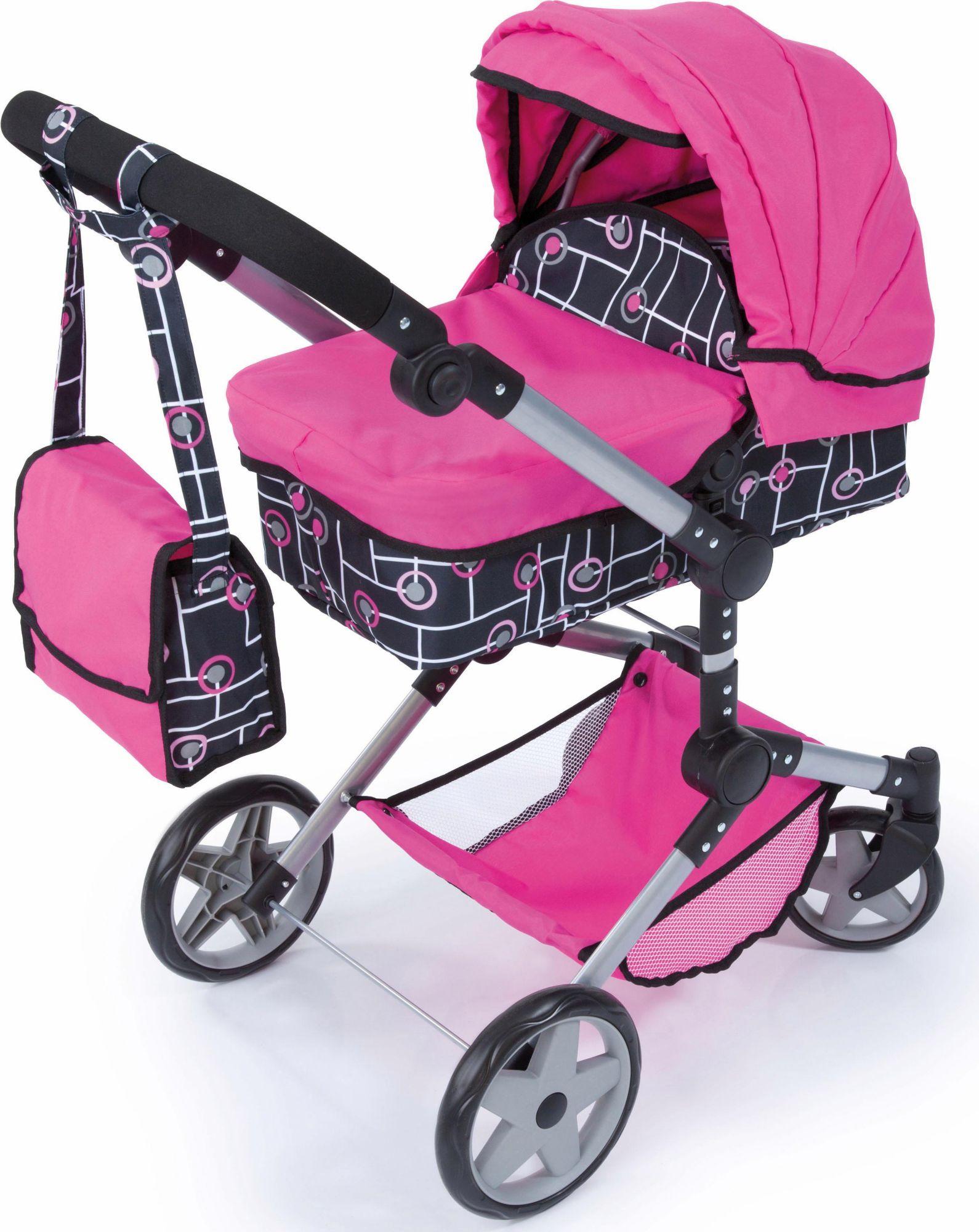 BAYER Bayer Design Puppenwagen, »Neo Pro, pink/schwarz«