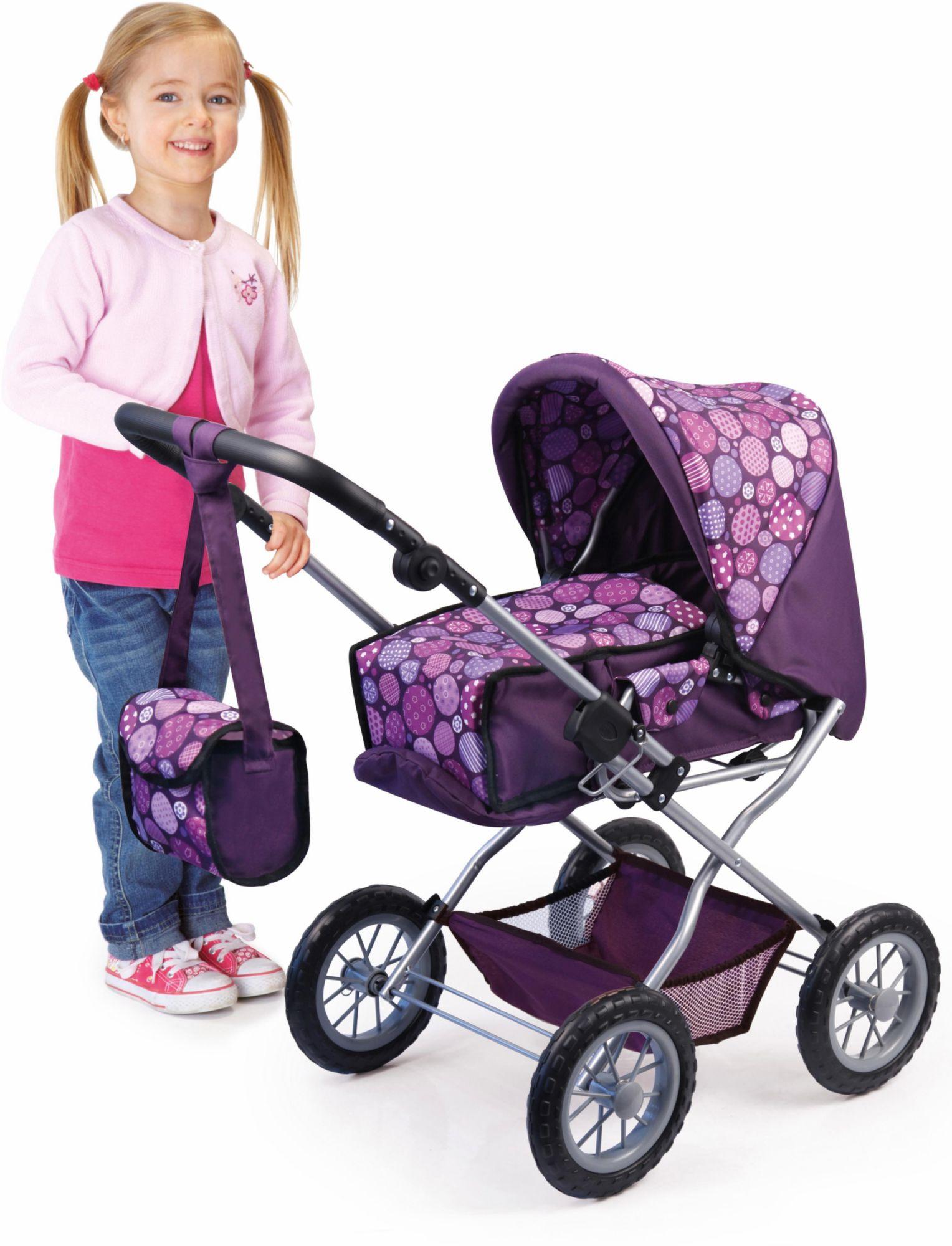 BAYER Bayer Design Kombi Puppenwagen, »Grande, lila/rosa«