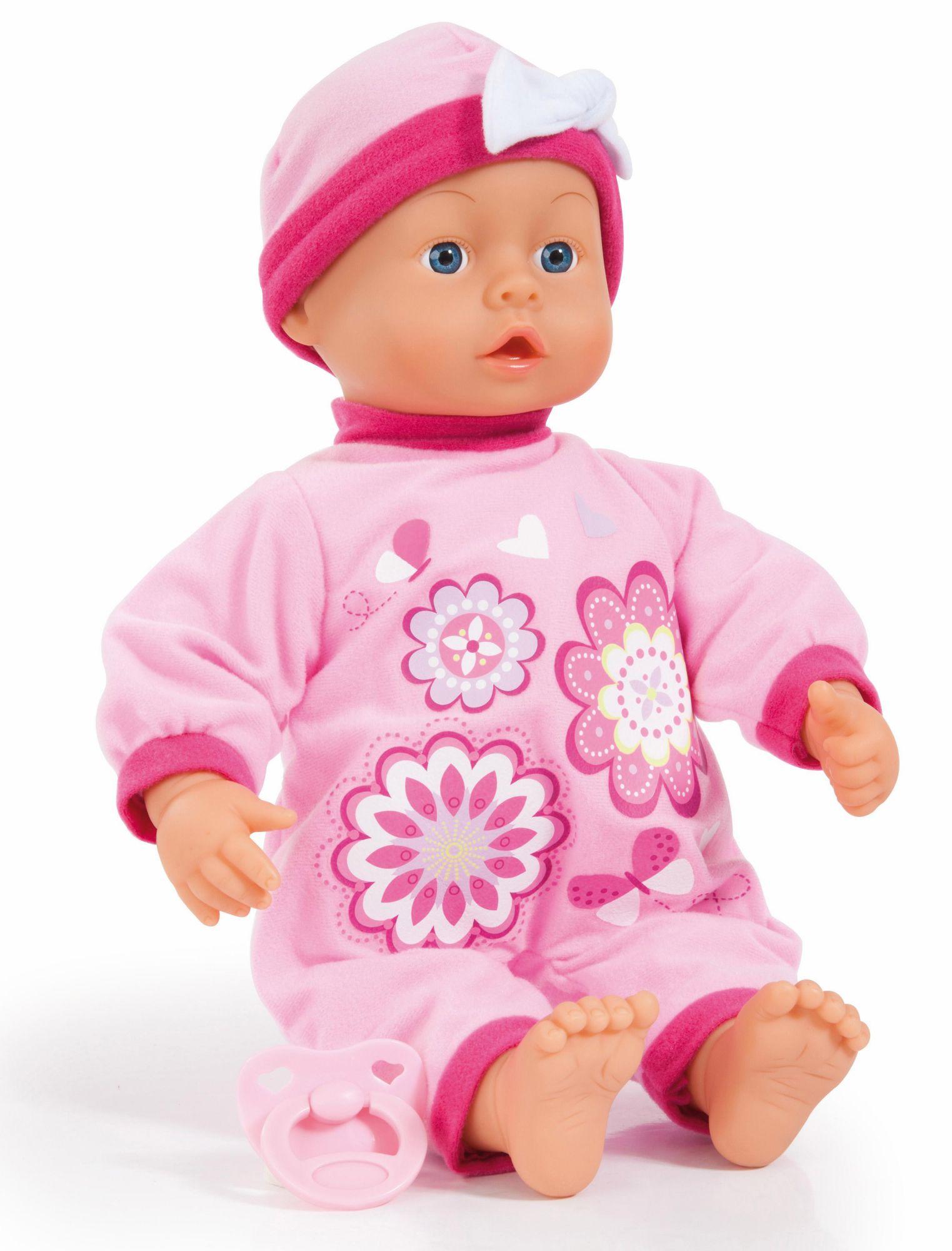BAYER Bayer Design Babypuppe mit Funktion, »First Words Baby, rosa 38 cm«